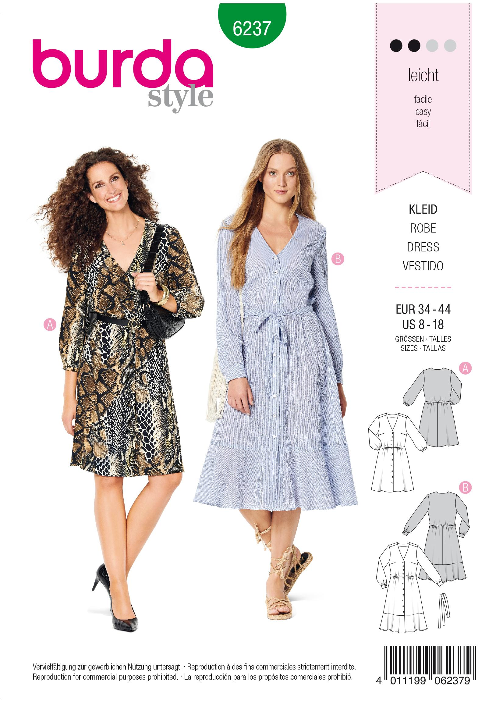 Burda B6237 Dress Sewing Pattern
