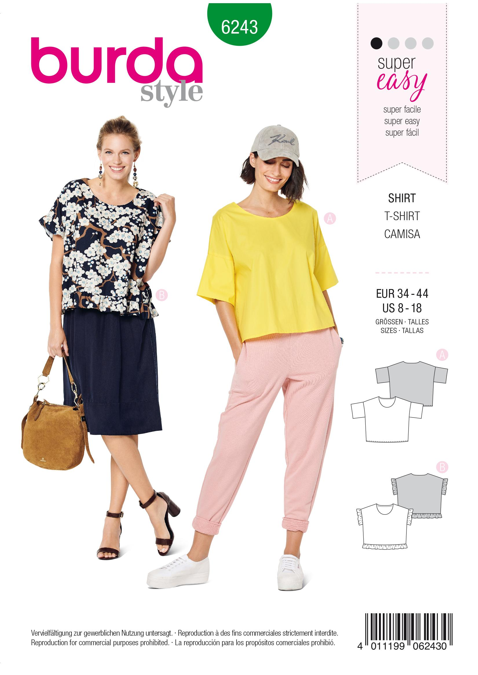 Burda B6243 Top Sewing Pattern
