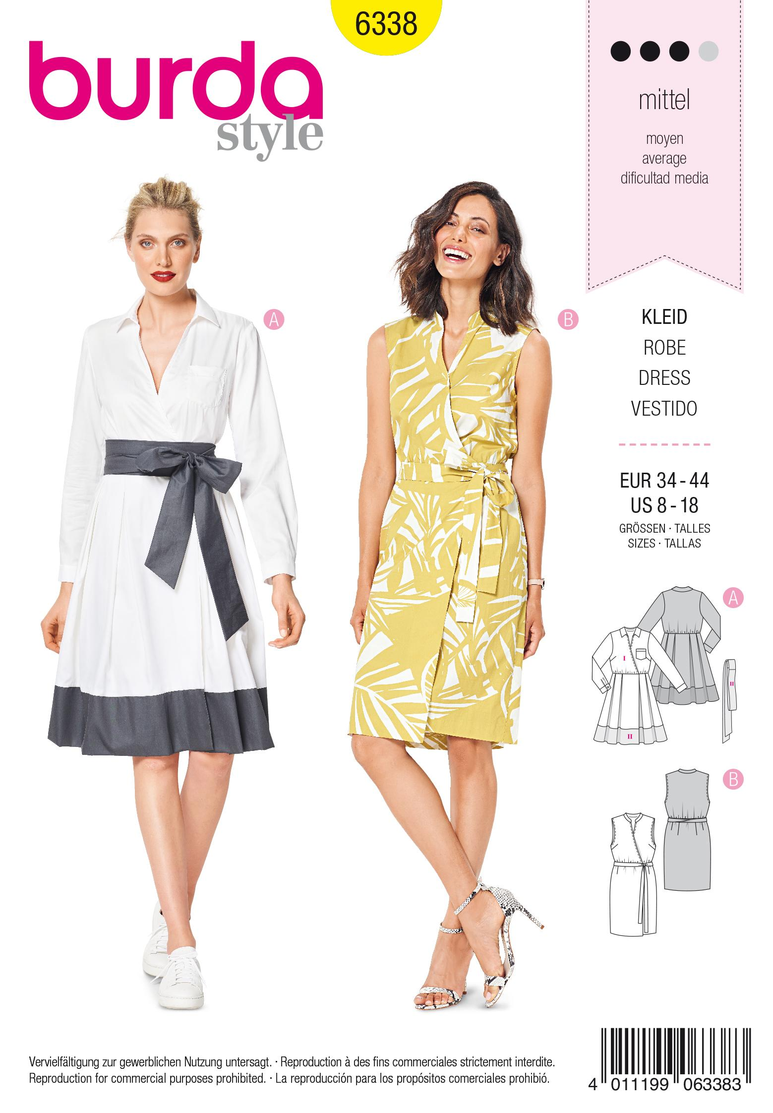 Burda 6338 Misses' wrap dress