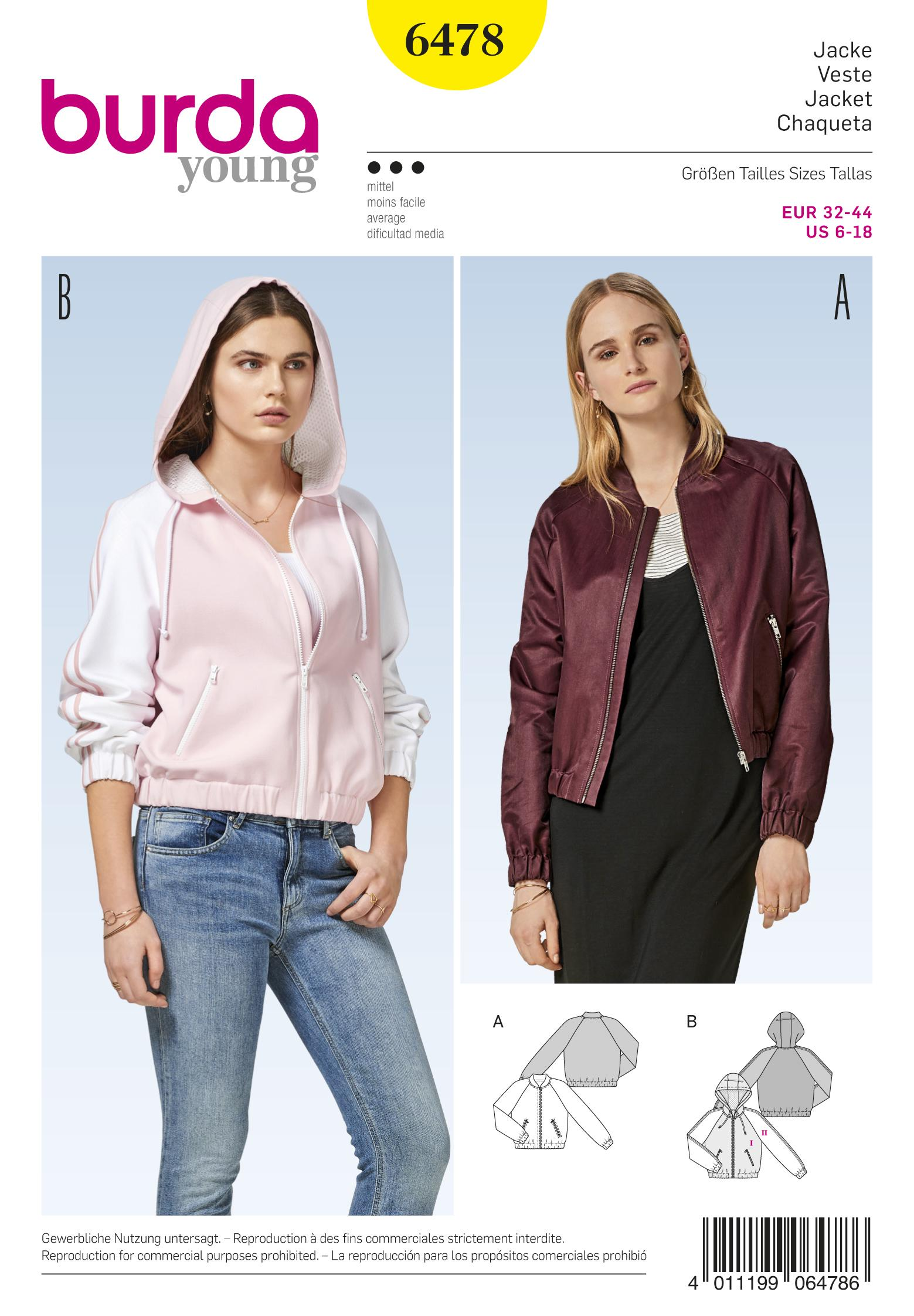 Burda B6478 Women's Jackets