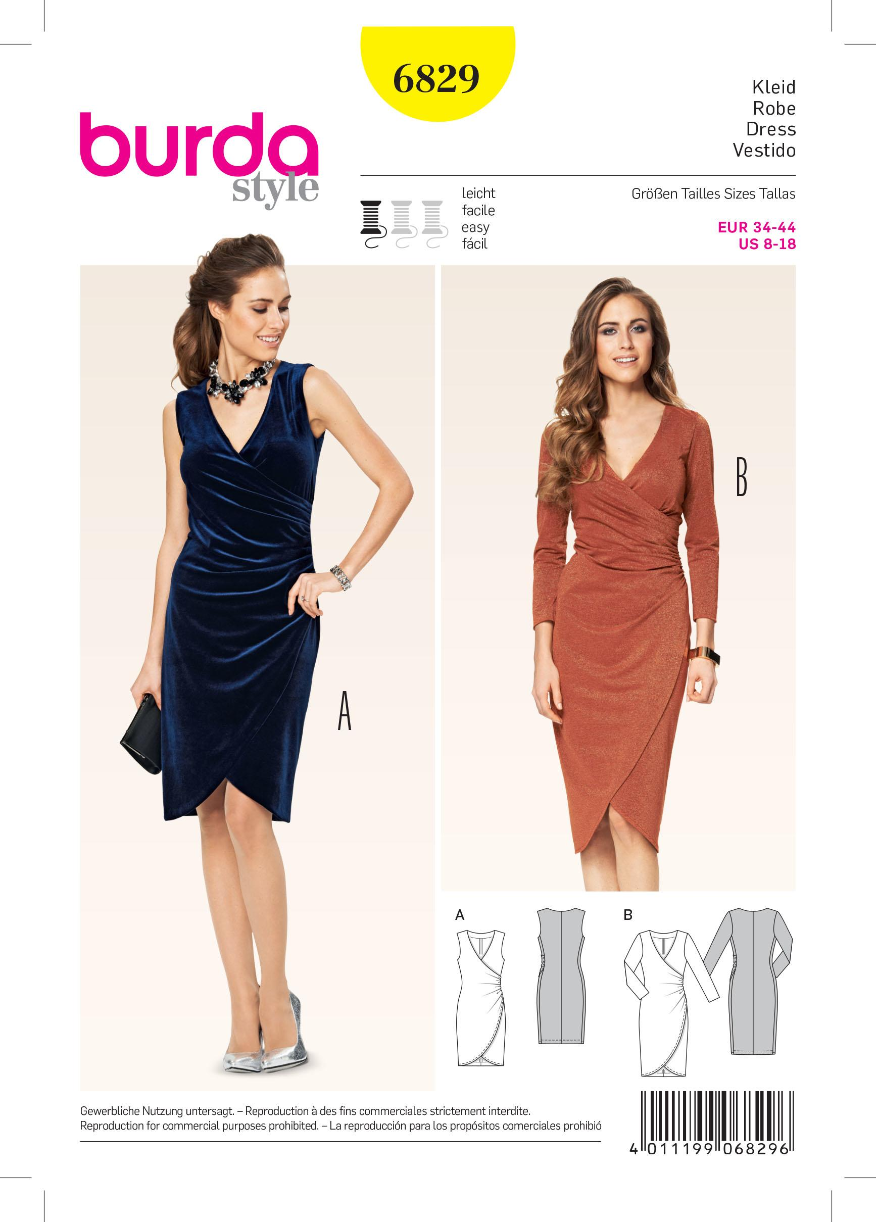 Burda B6829 Burda dresses Sewing Pattern
