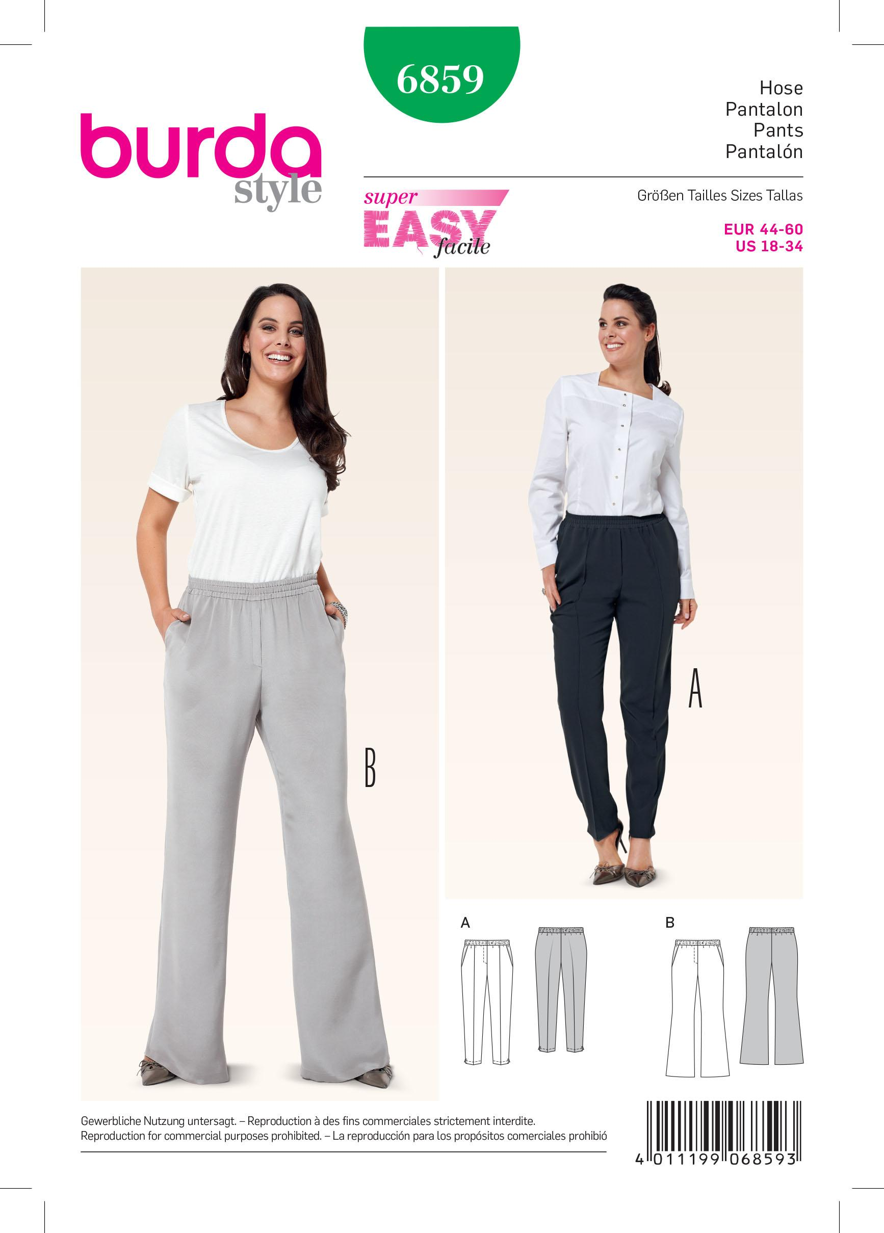 Burda B6859 Plus size Sewing Pattern