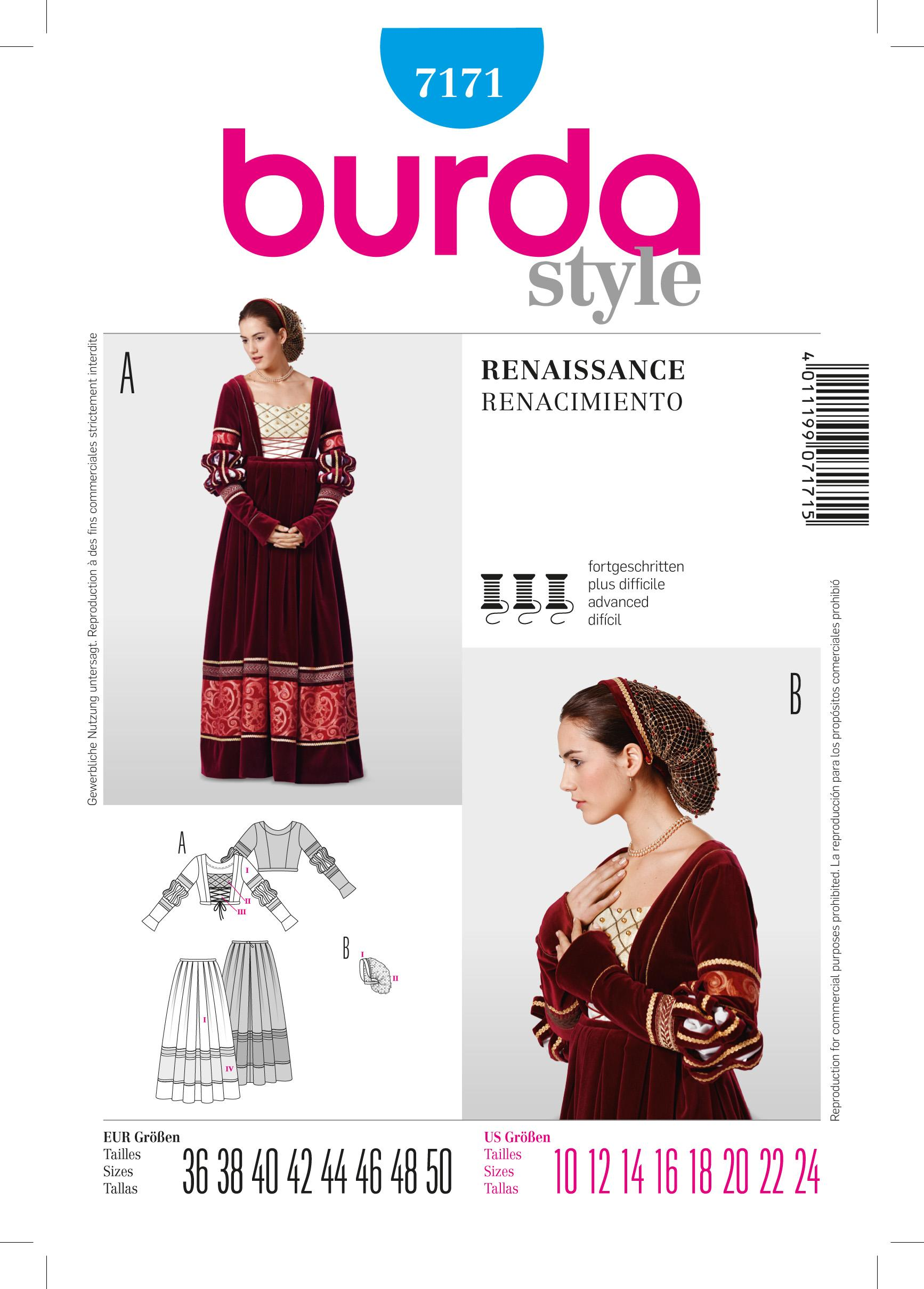 Burda B7171 Dress Sewing Pattern