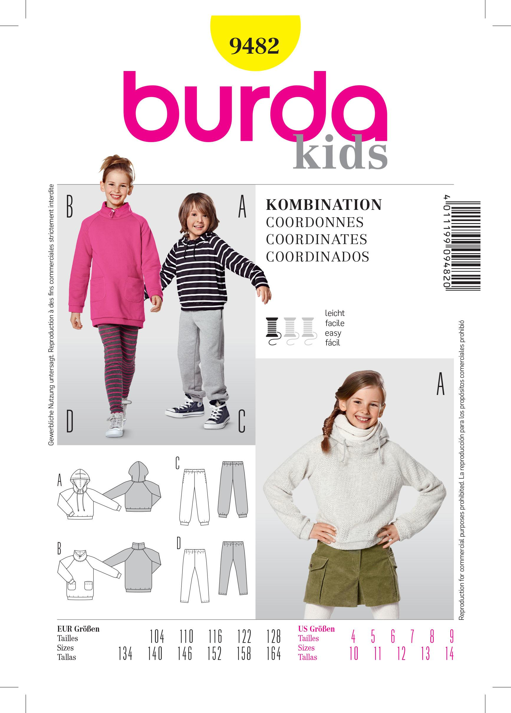 Burda B9482 Coordinates Sewing Pattern