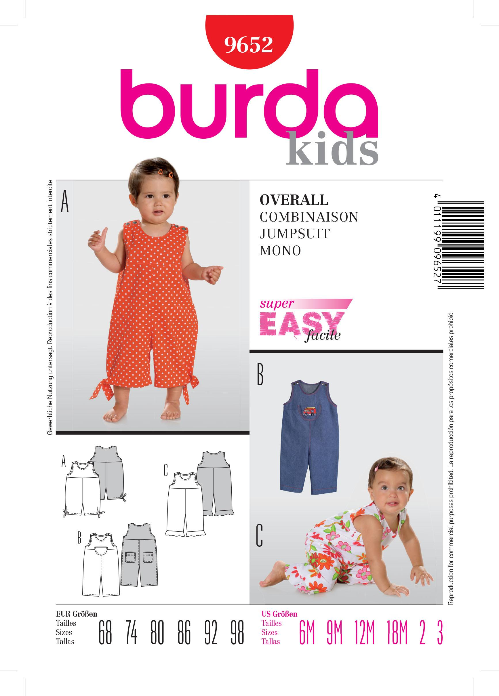 Burda B9652 Jumpsuit Sewing Pattern