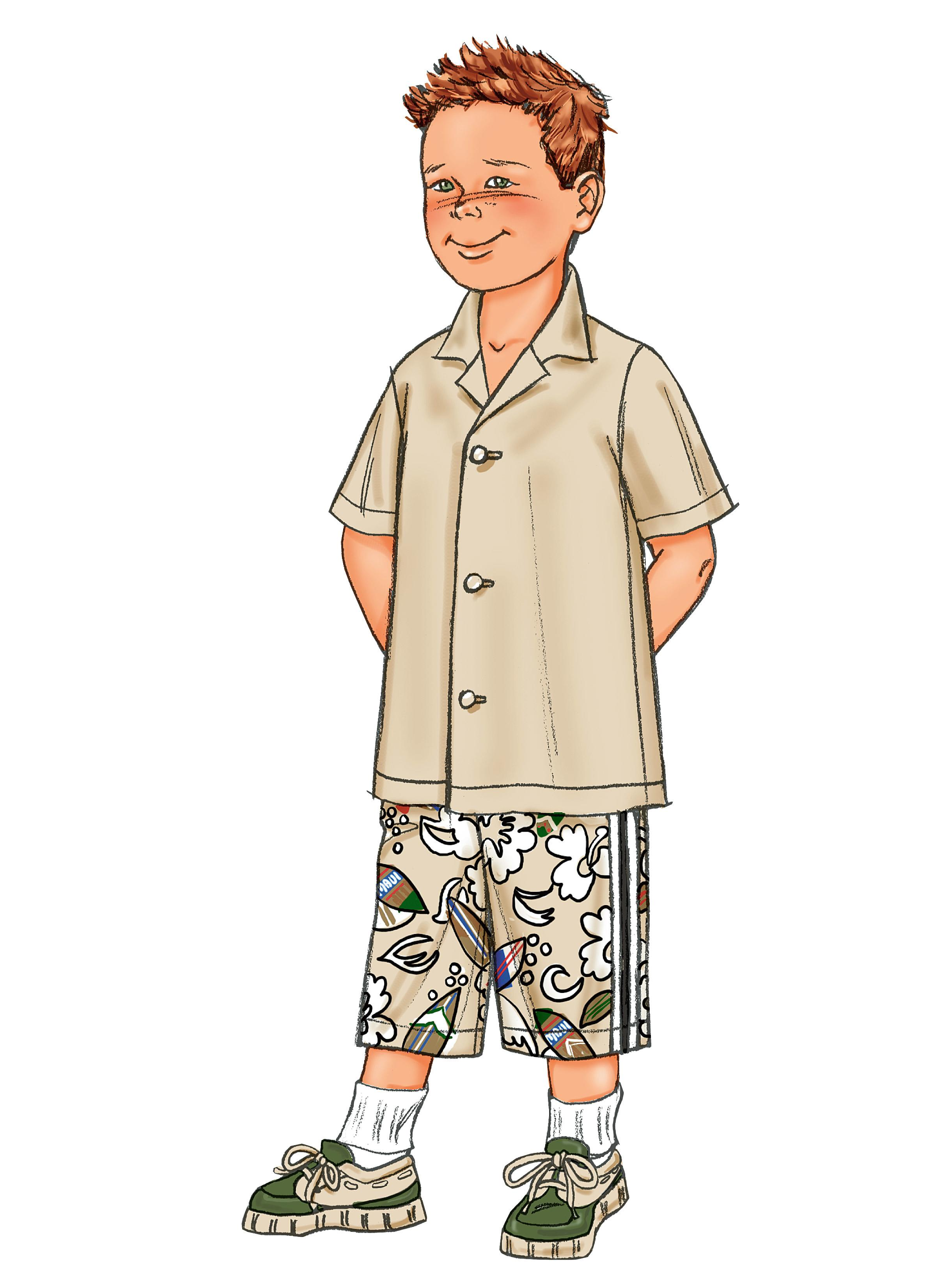 Butterick B3475 Boys' Shirt & Shorts