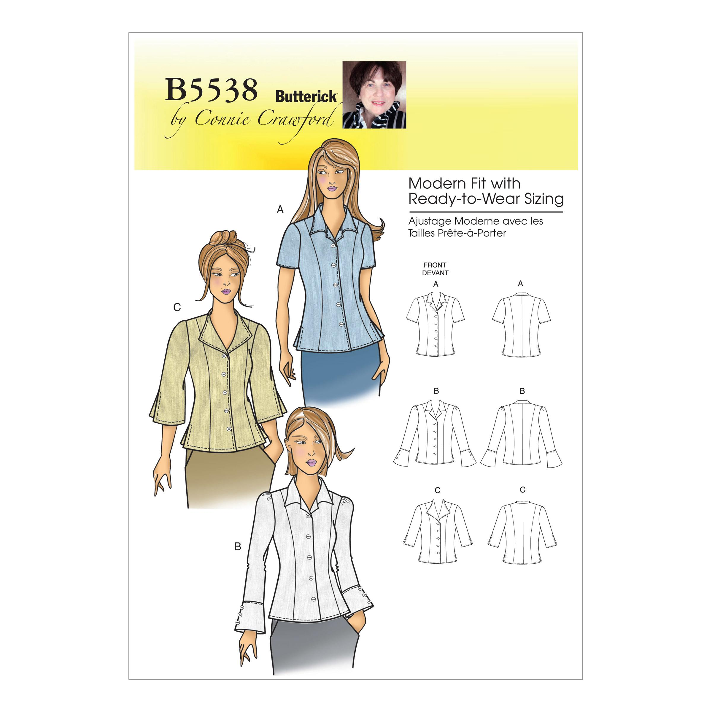 Butterick B5538 Misses'/Women's Blouse