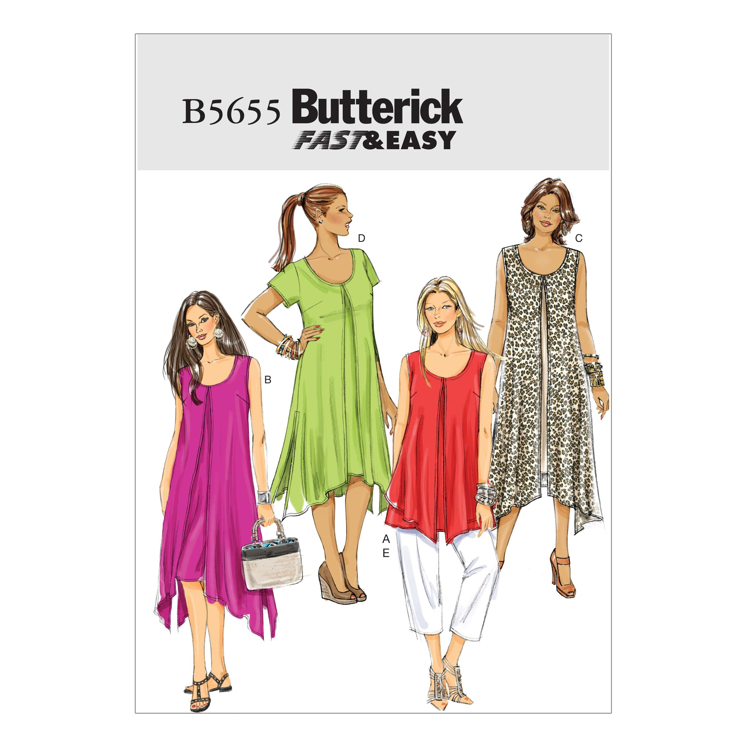 Butterick B5655 Misses'/Women's Top, Dress and Pants