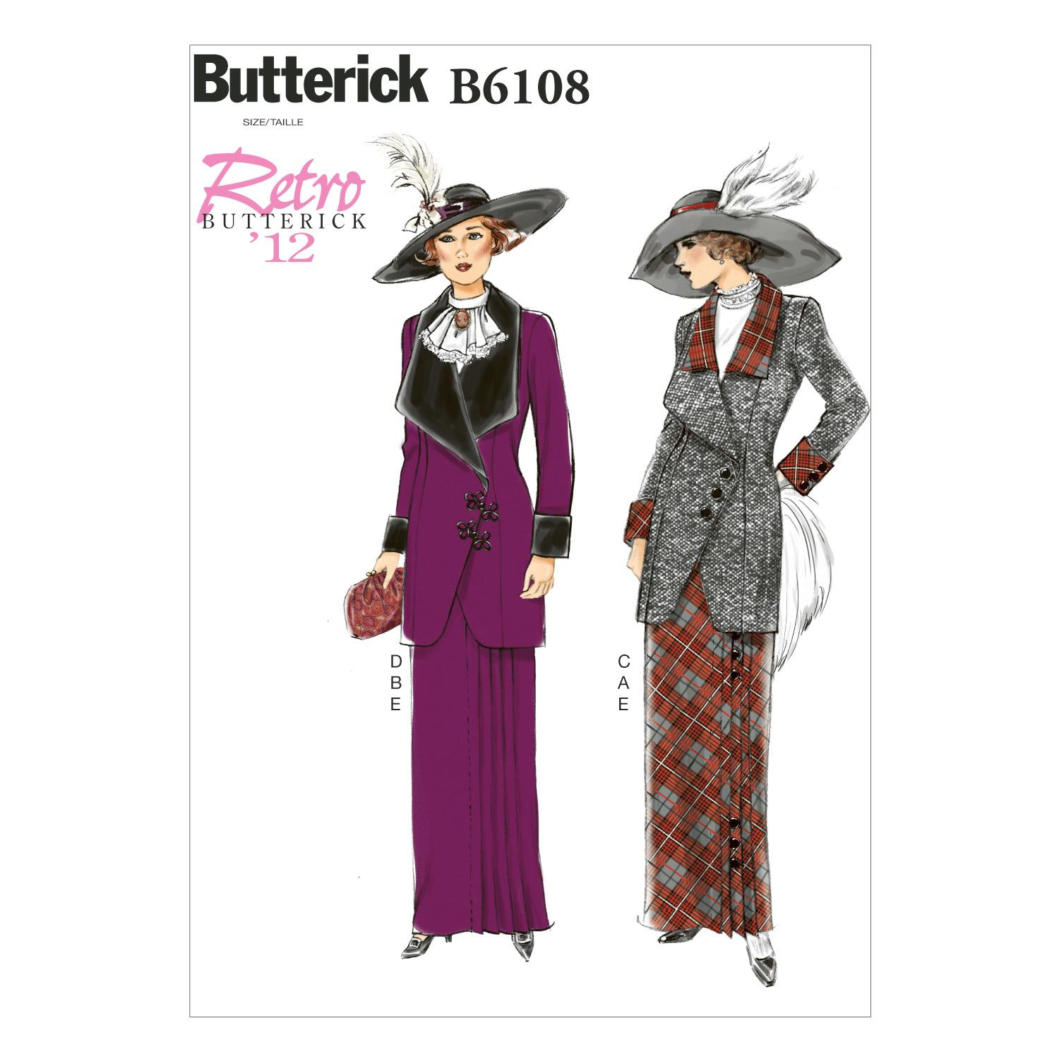 Butterick B6108 Misses' Jacket, Bib and Skirt