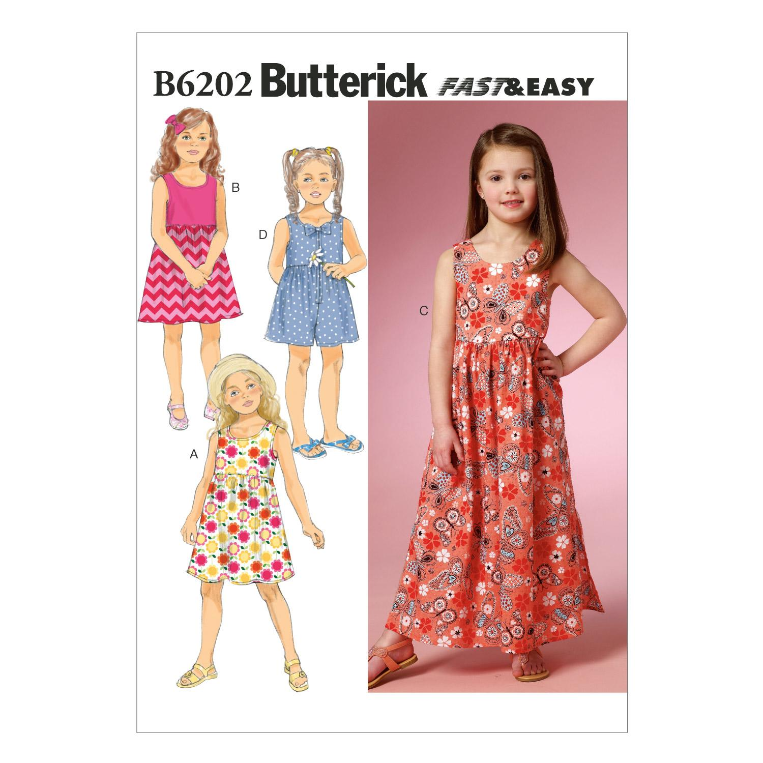 Butterick B6202 Children's/Girls' Dress and Culottes