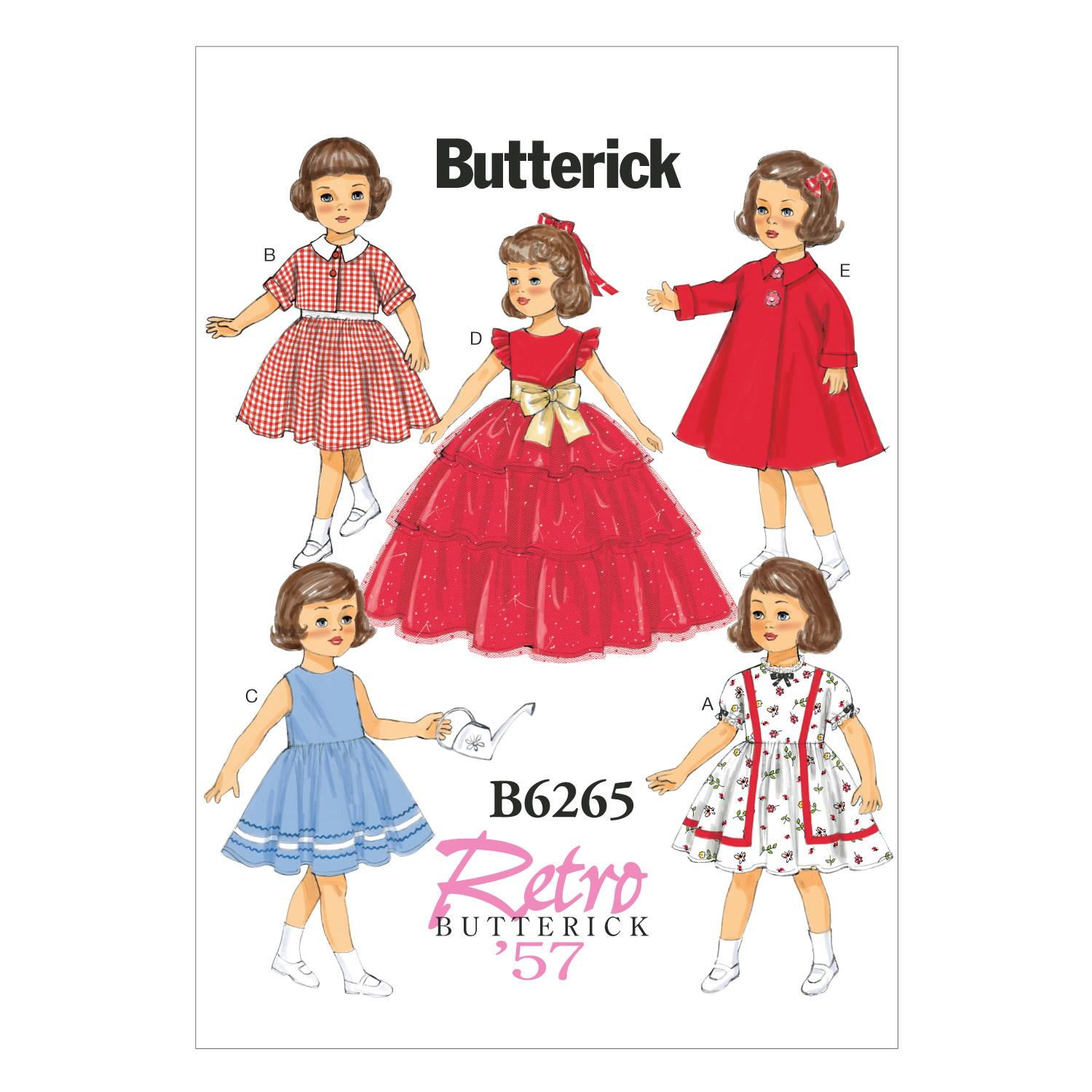 "Butterick B6265 18"" Doll Clothes"
