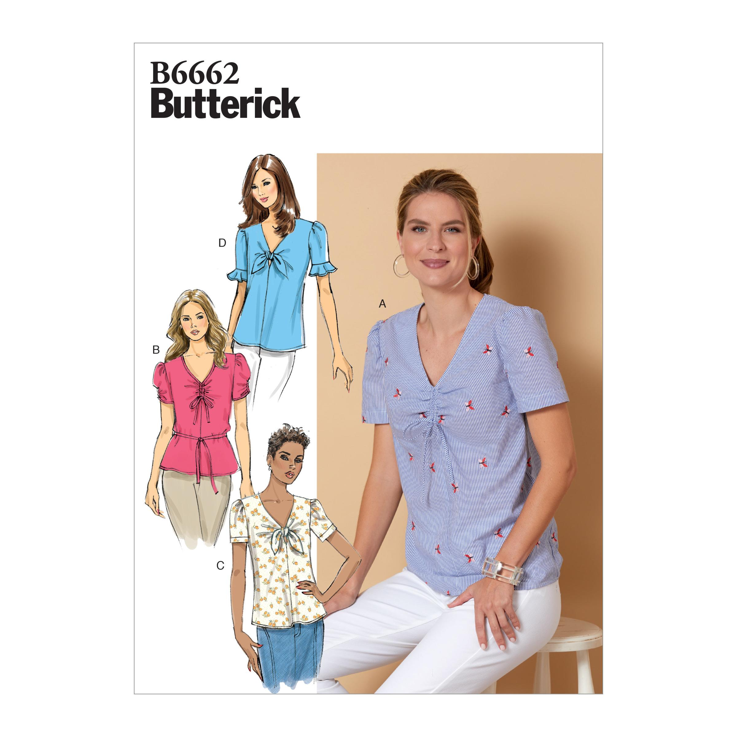Butterick B6662 Misses' Top and Tie