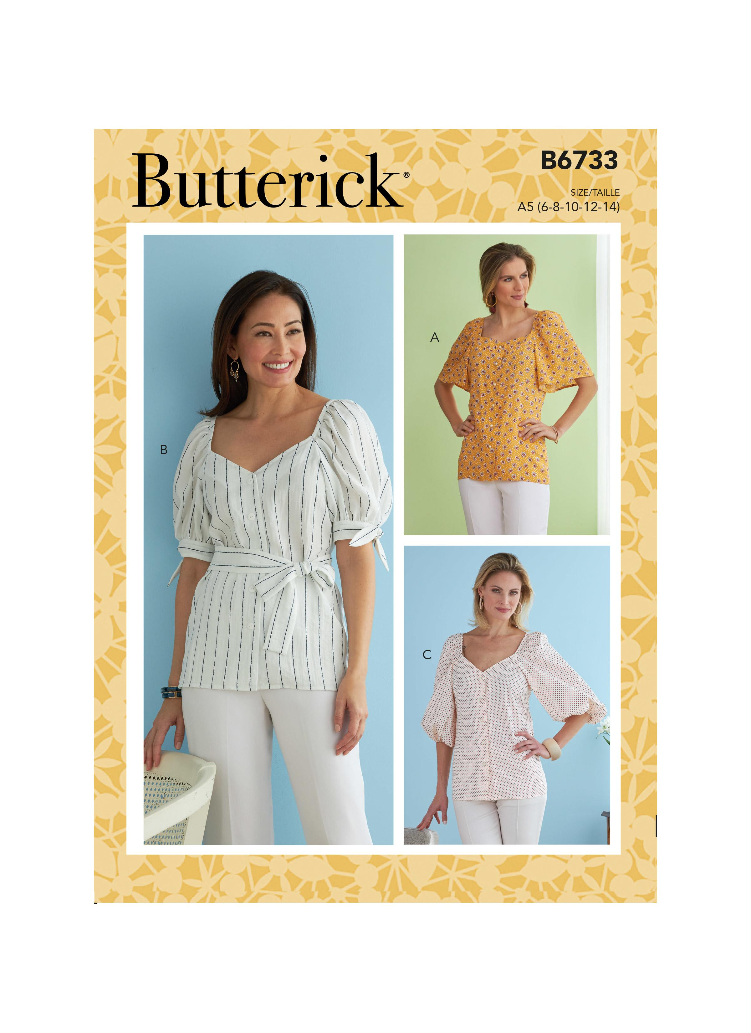 Butterick B6733 Misses' Top