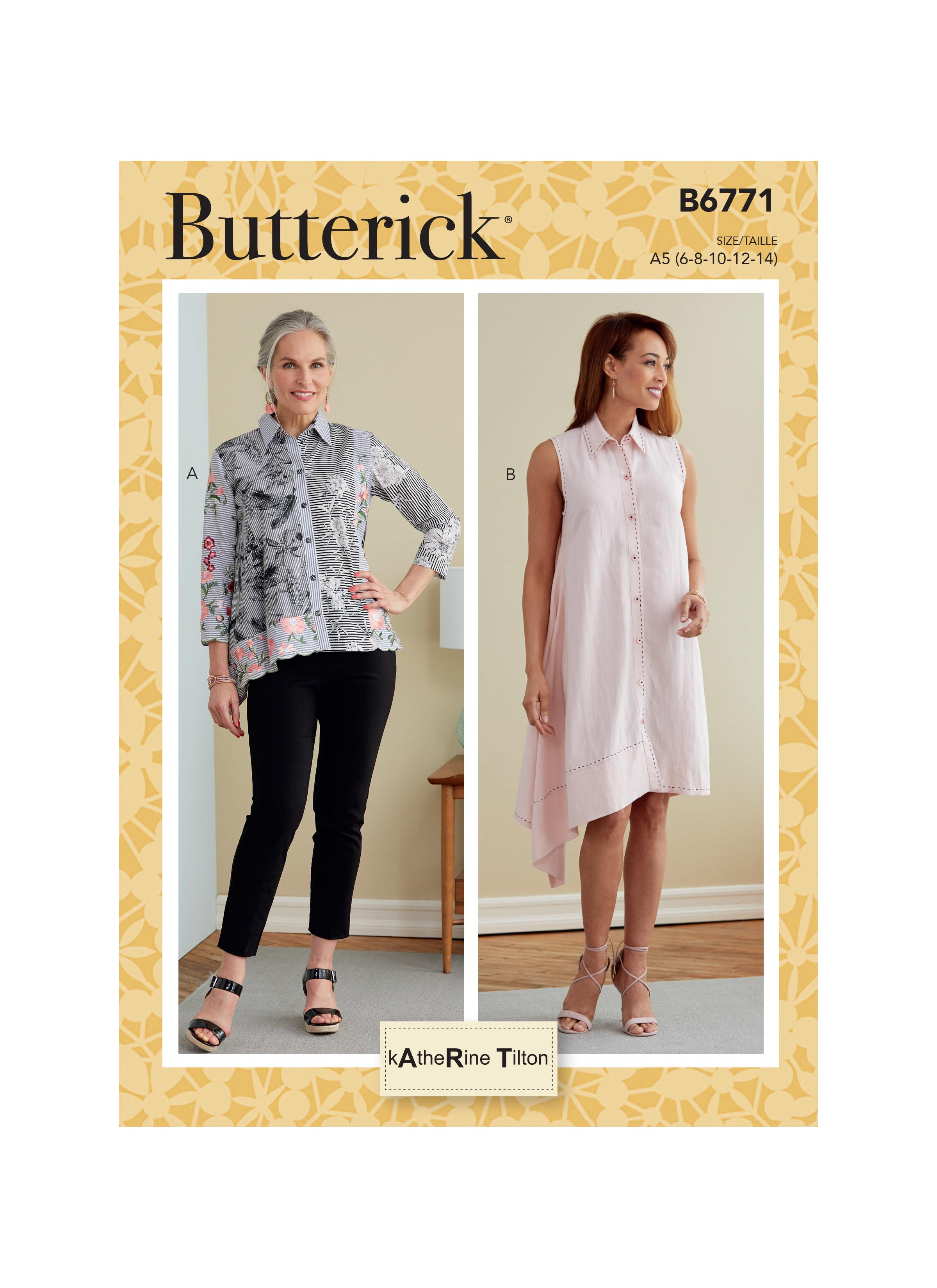 Butterick B6771 Misses' Shirt and Dress,