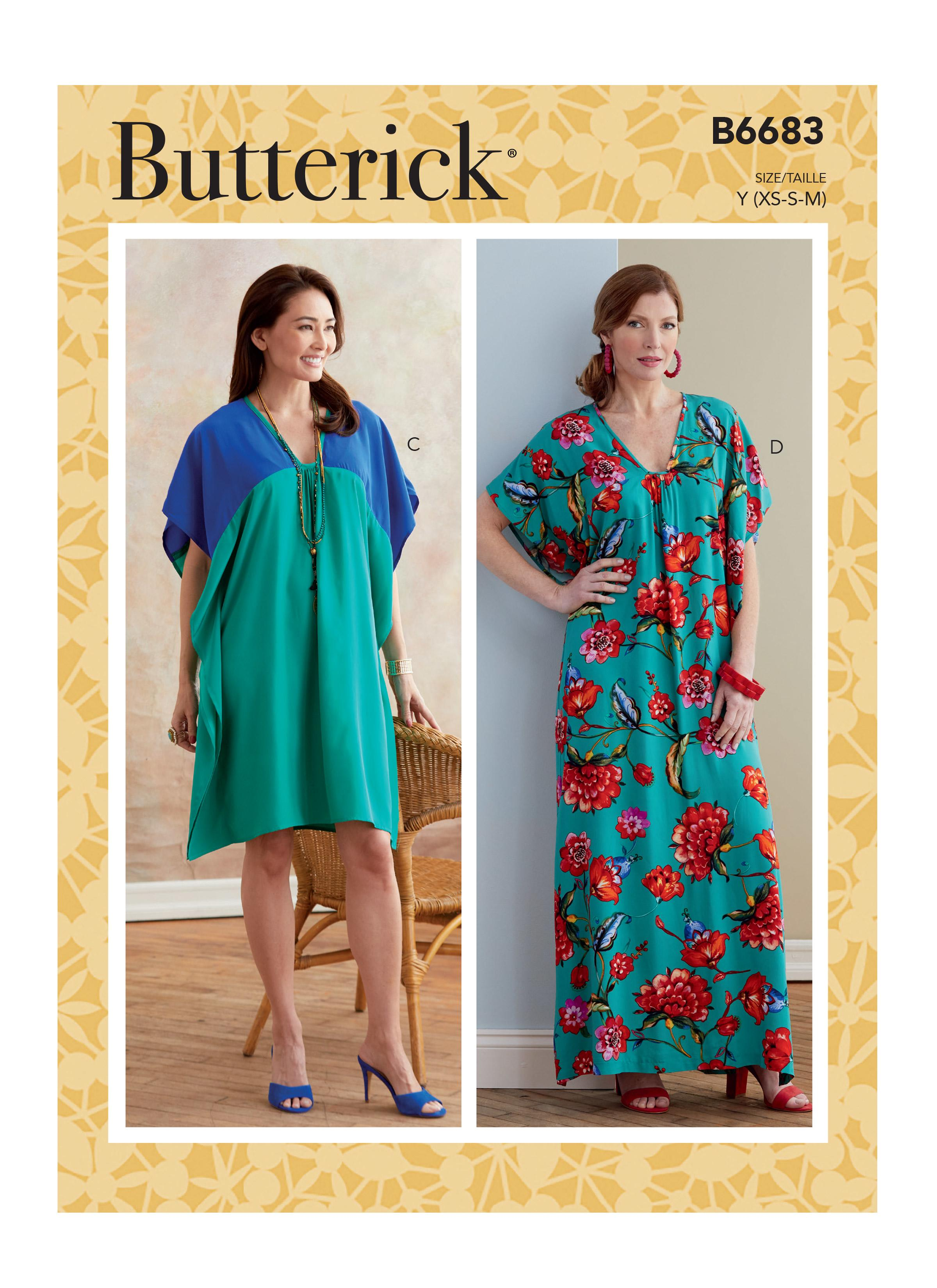 Butterick B6683 Misses' Tunic and Caftan