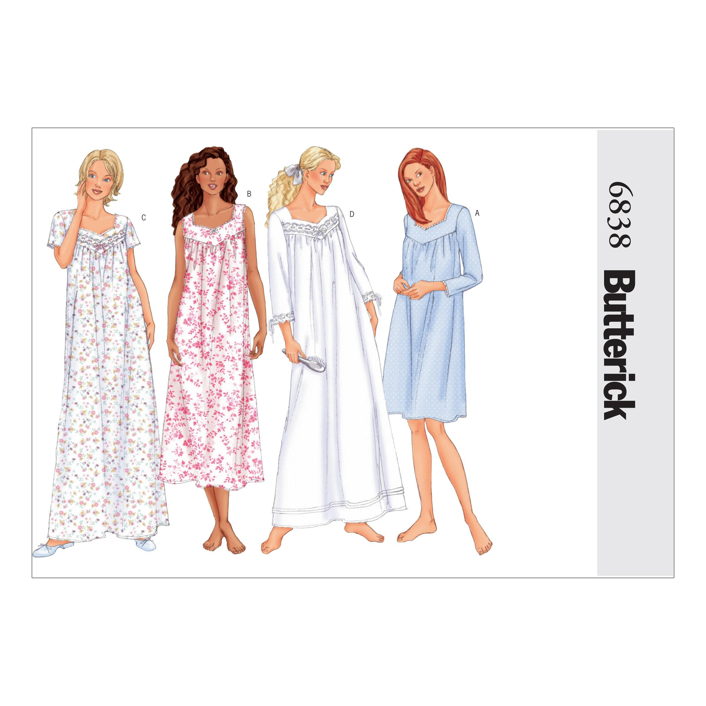 Butterick B6838 Misses'/Misses' Petite Nightgown