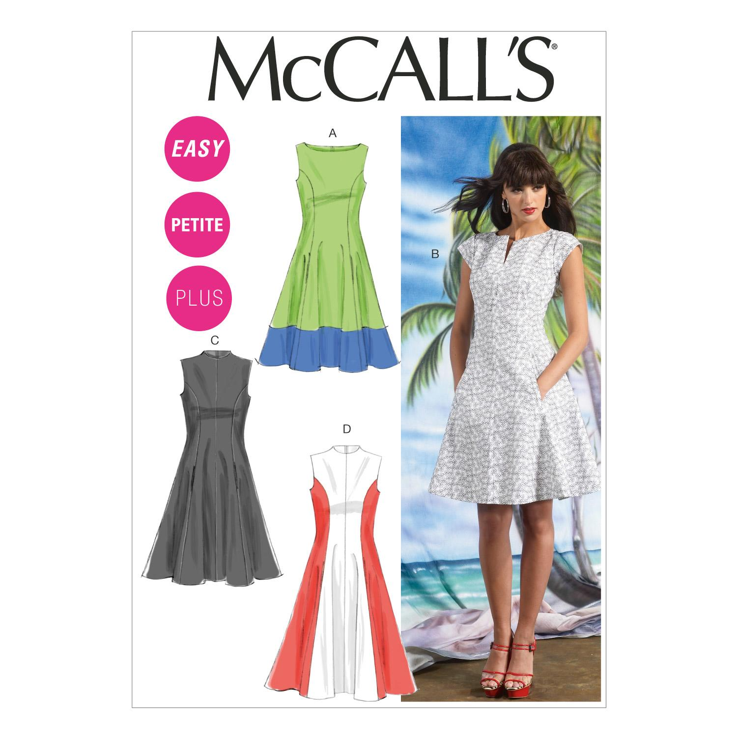 McCalls M6741 Dresses, Misses, Misses/Women/Girls, Plus Size