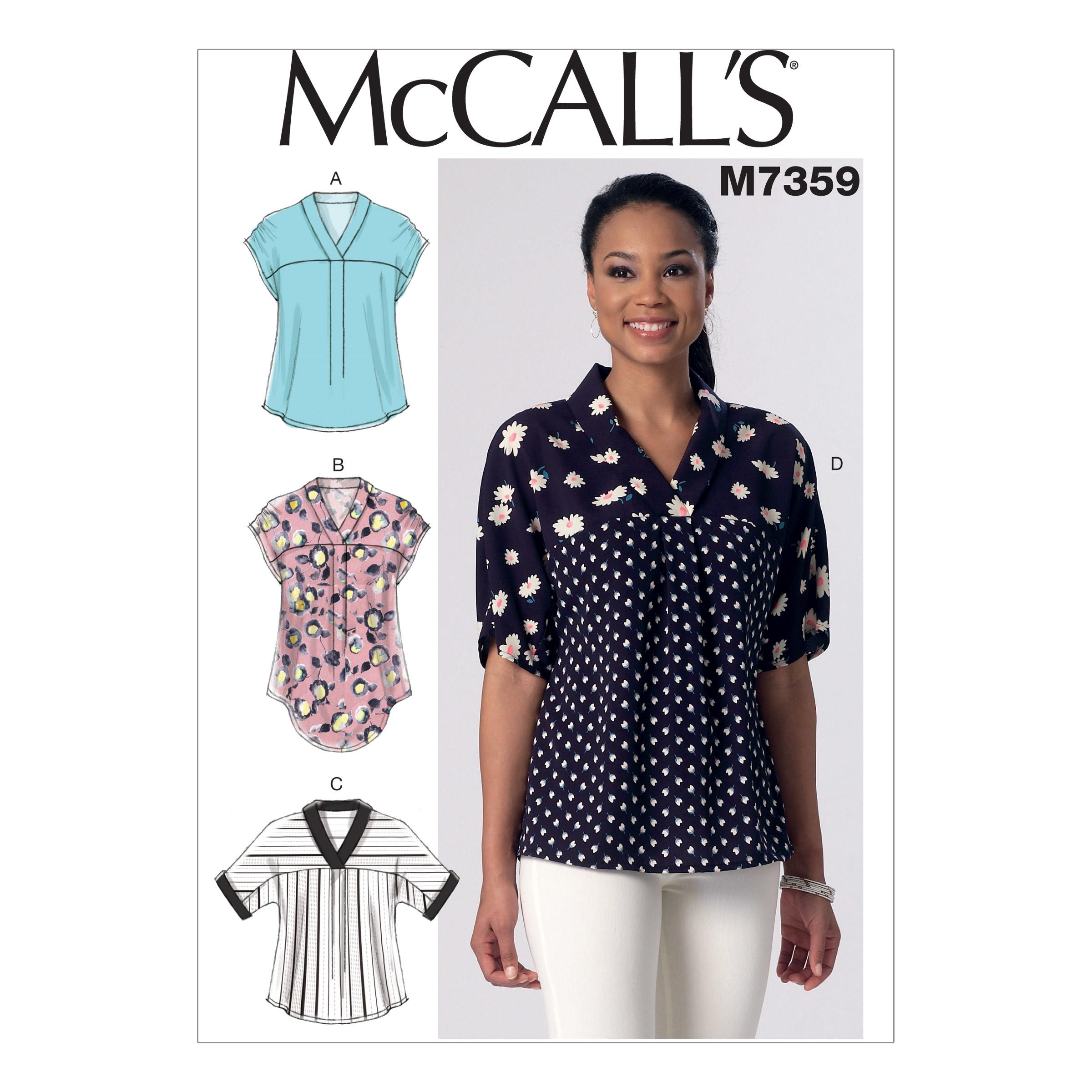 McCalls M7359 Tops/Tunics
