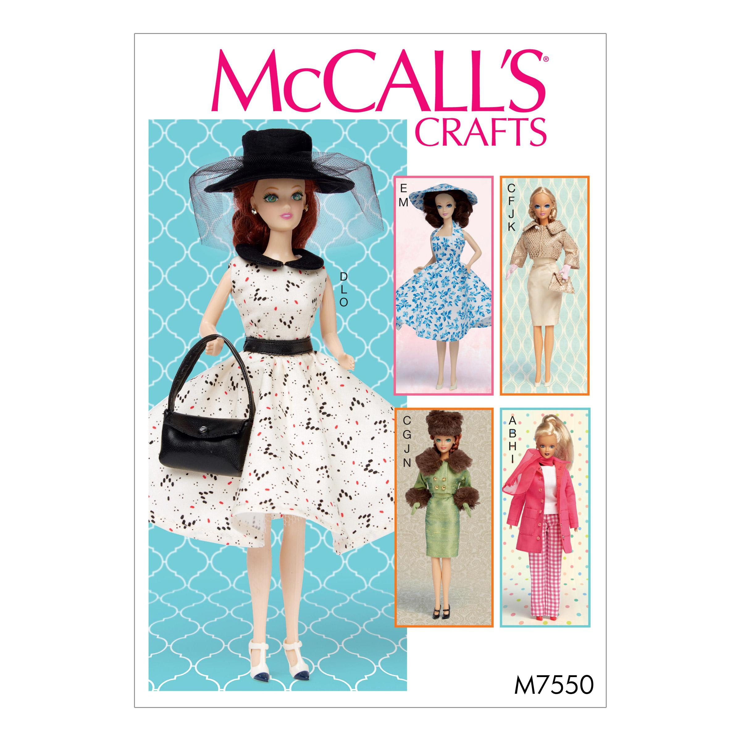 McCalls M7550 Crafts Dolls & Toys