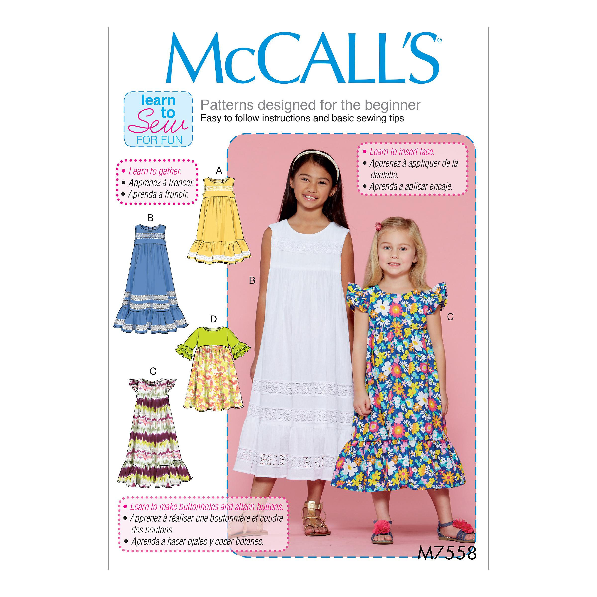 McCalls M7558 Kids Girls & Boys, Kids Children
