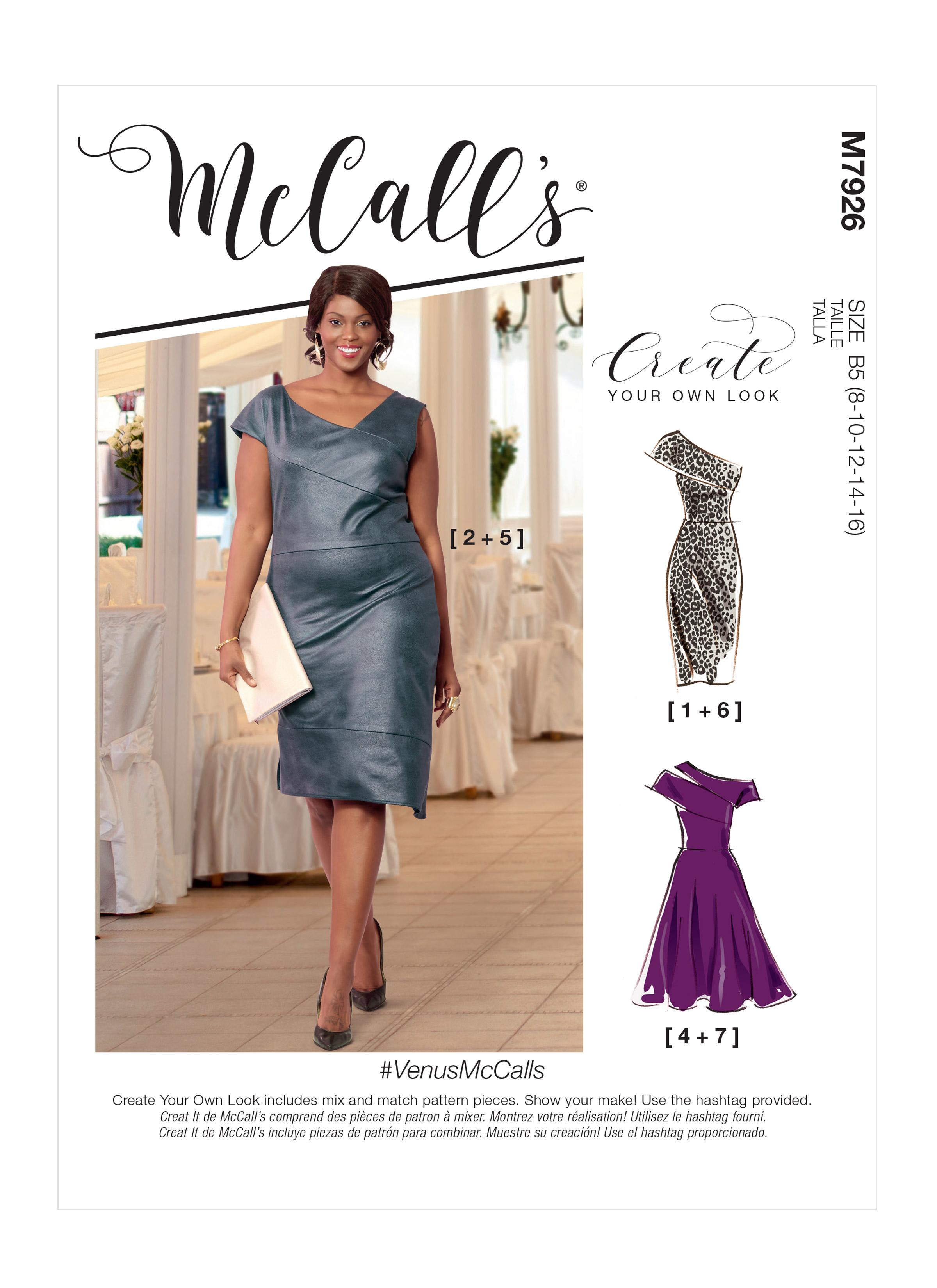 McCalls M7926 Misses Dresses, Misses Prom, Evening & Bridal, Plus Sizes