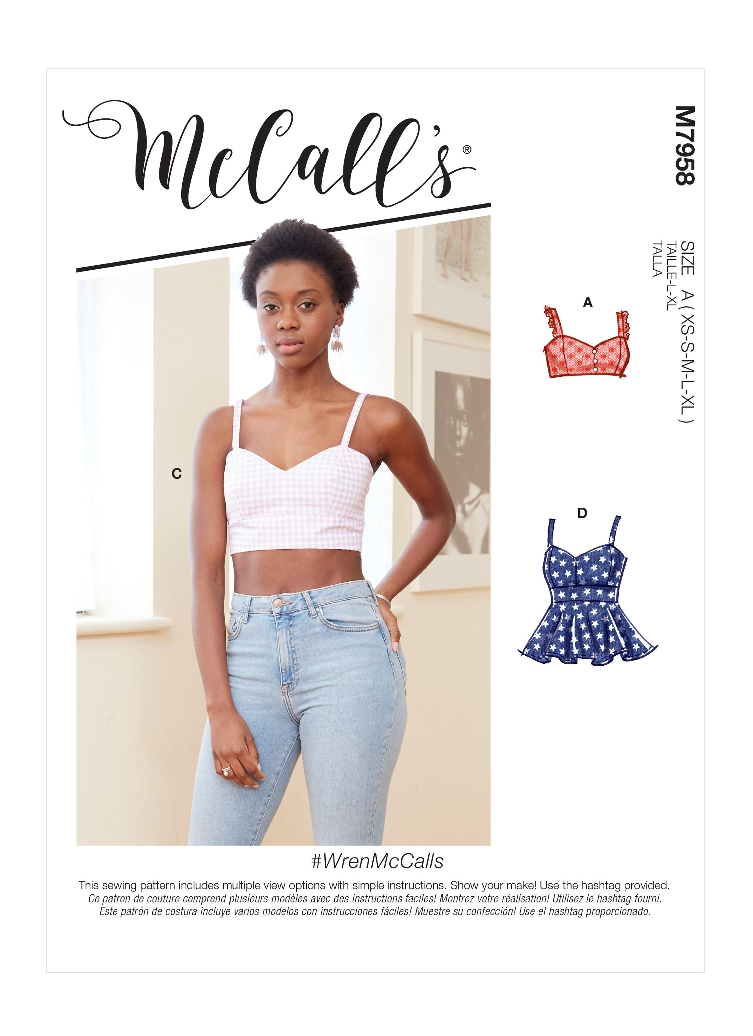McCalls M7958 Misses Tops