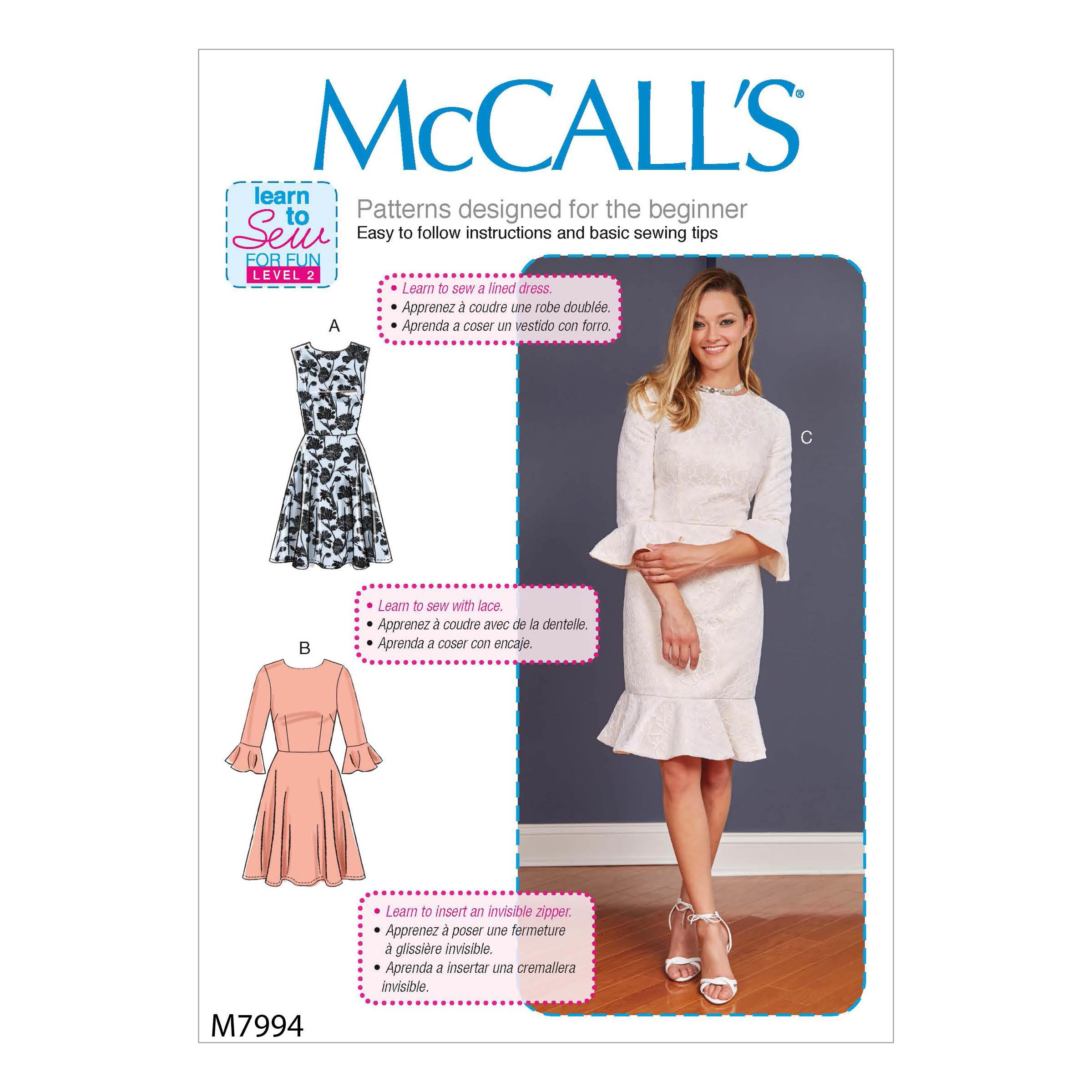 McCalls M7994 Misses Dresses, Misses Prom, Evening & Bridal, Plus Sizes