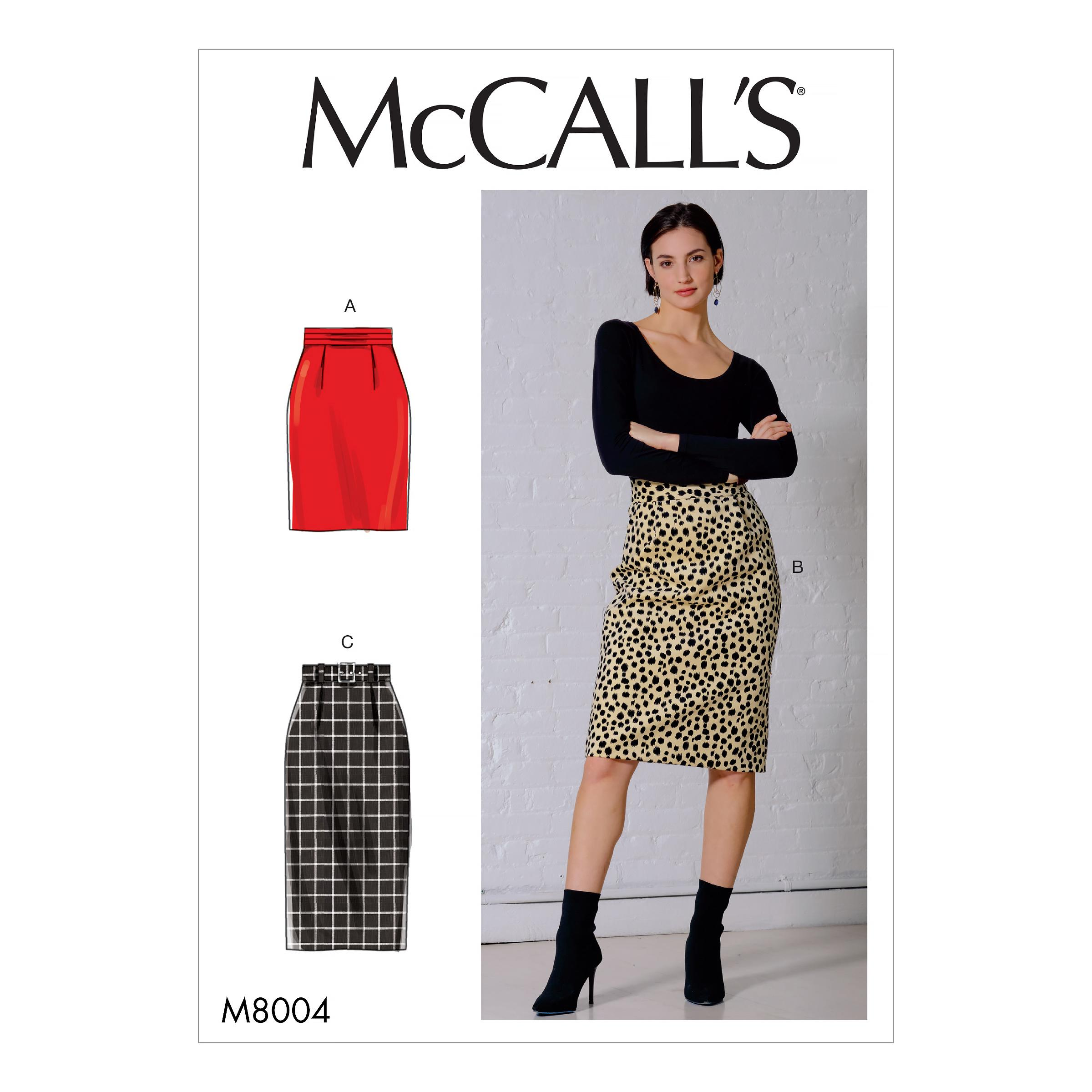 McCalls M8004 Misses Skirts