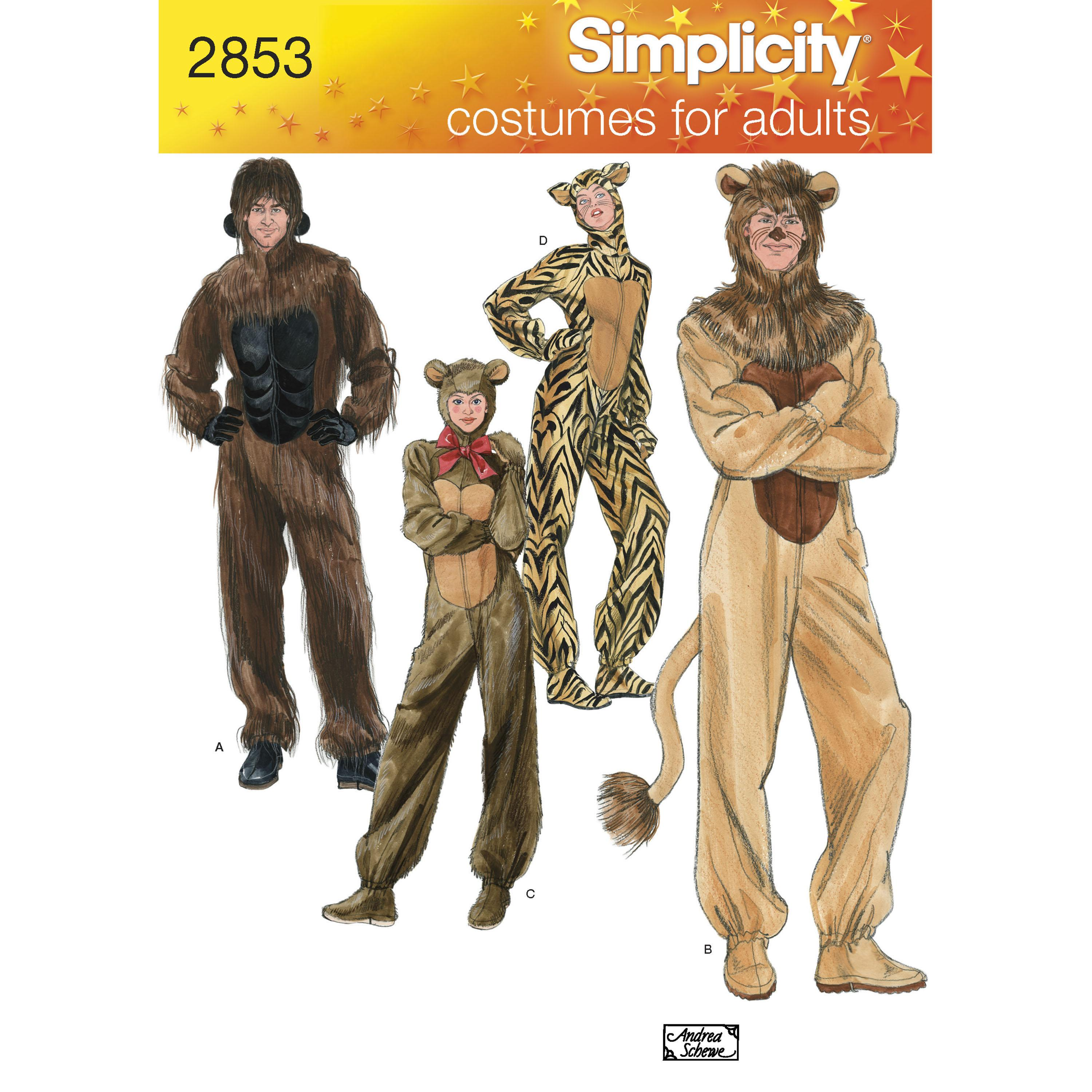 Simplicity S2853 Adult Costumes