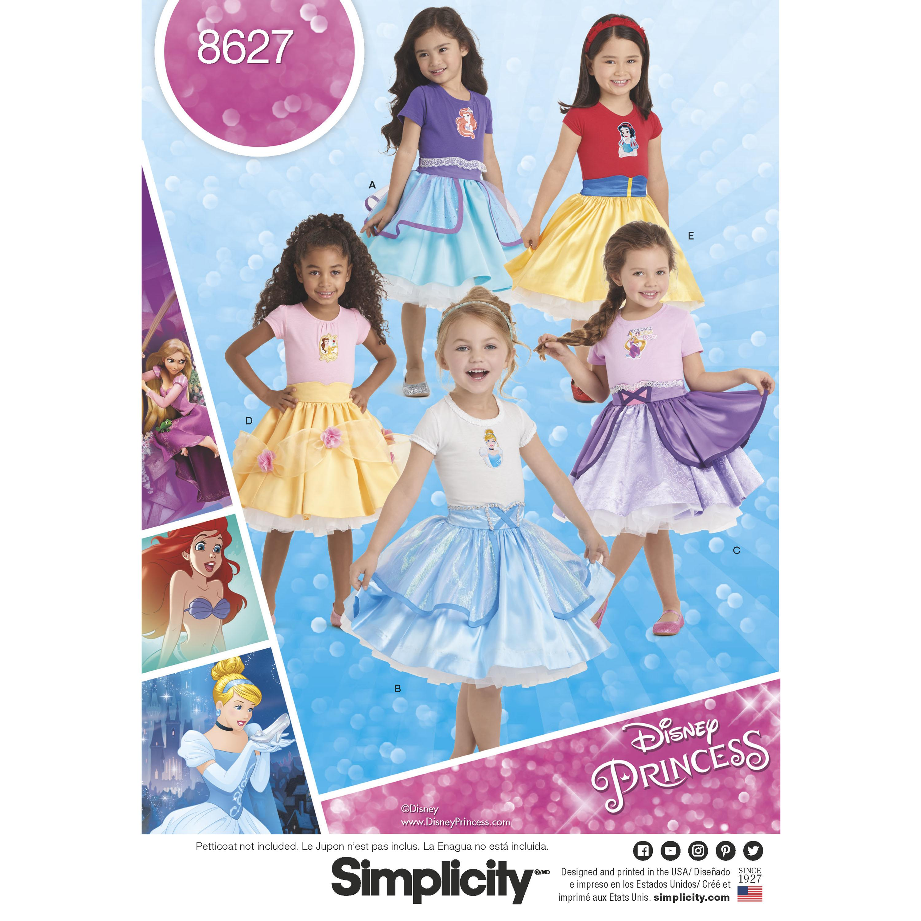 Simplicity S8627 Child's Disney Character Skirts