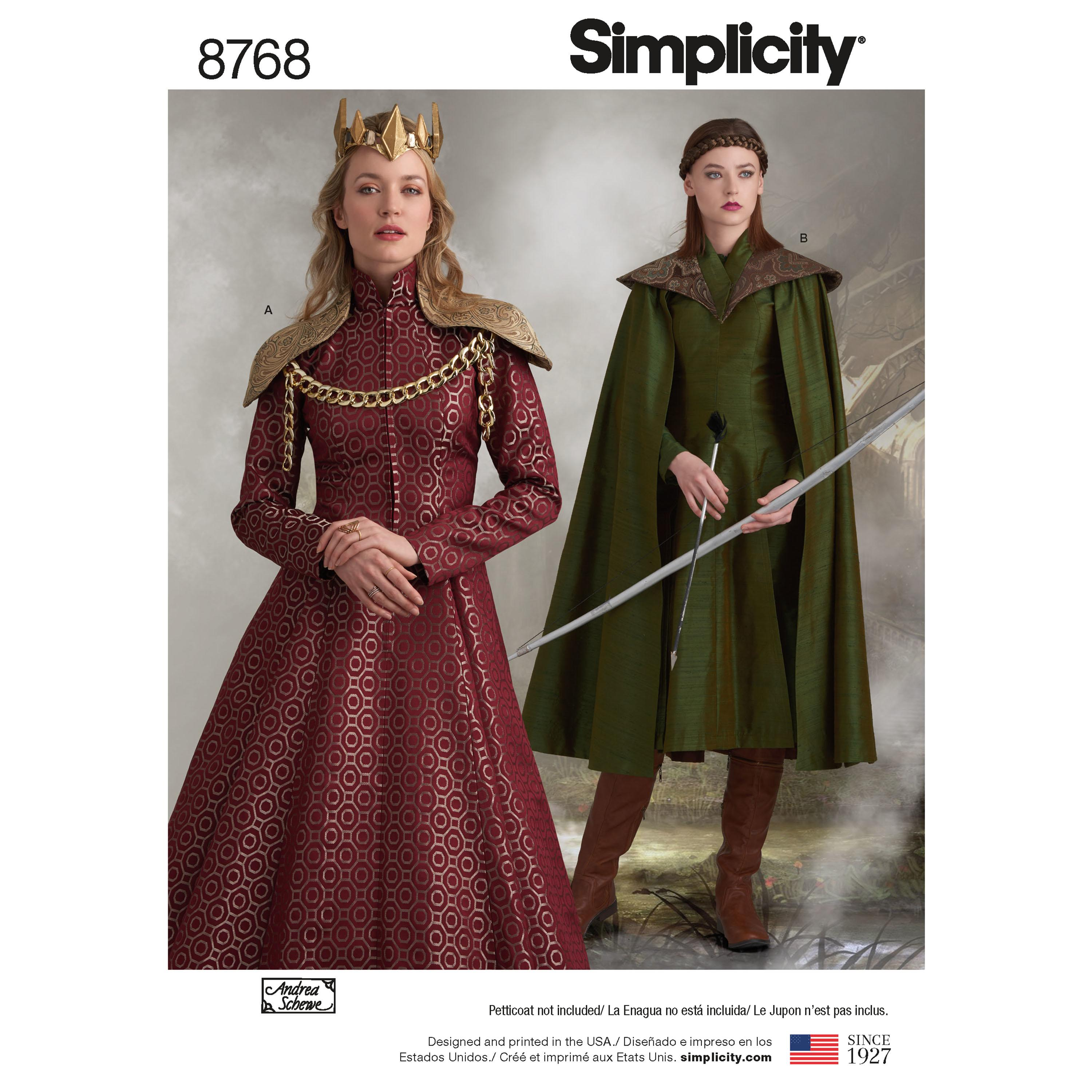 Simplicity S8768 Women's Fantasy Costumes