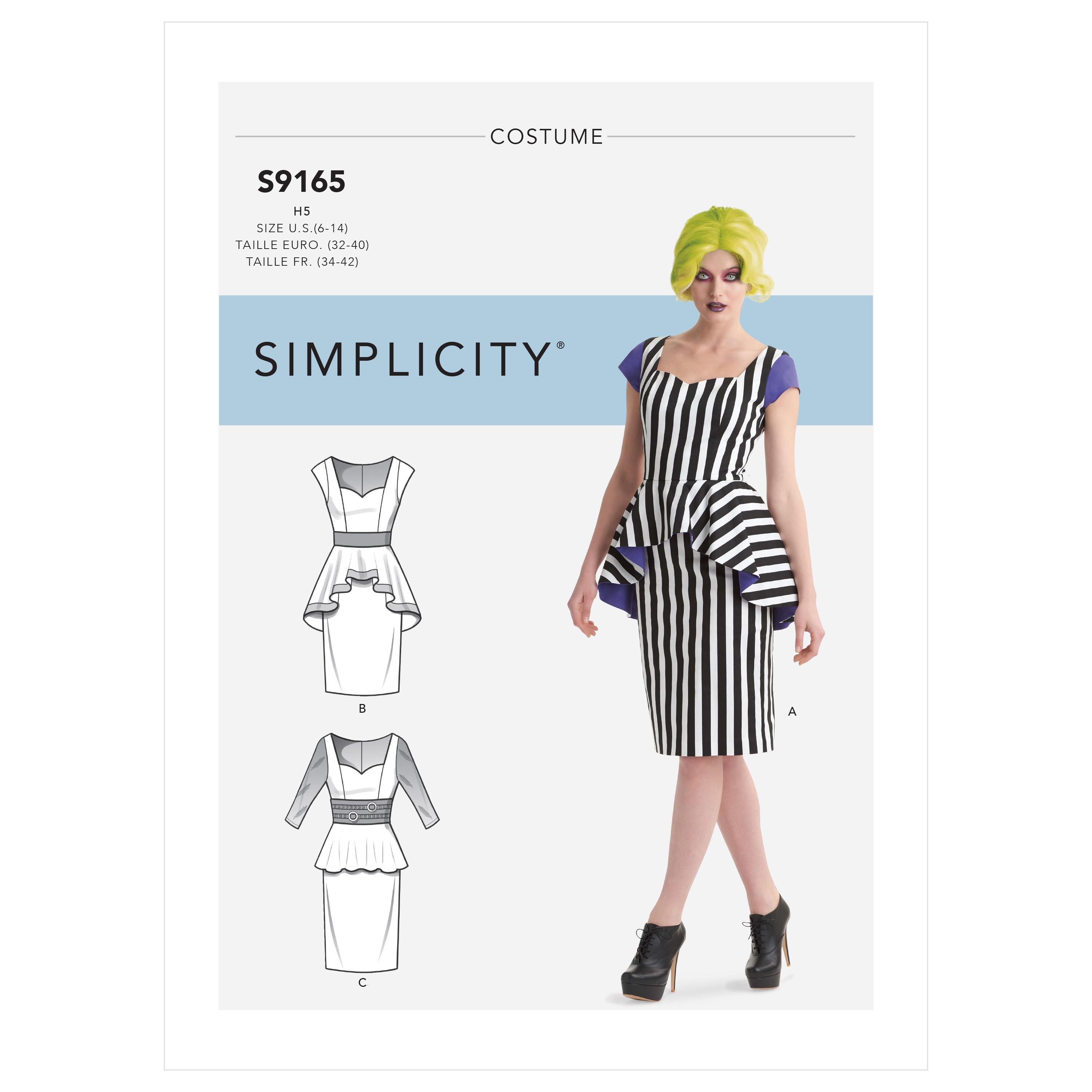 Simplicity S9165 Misses' Costumes Dress