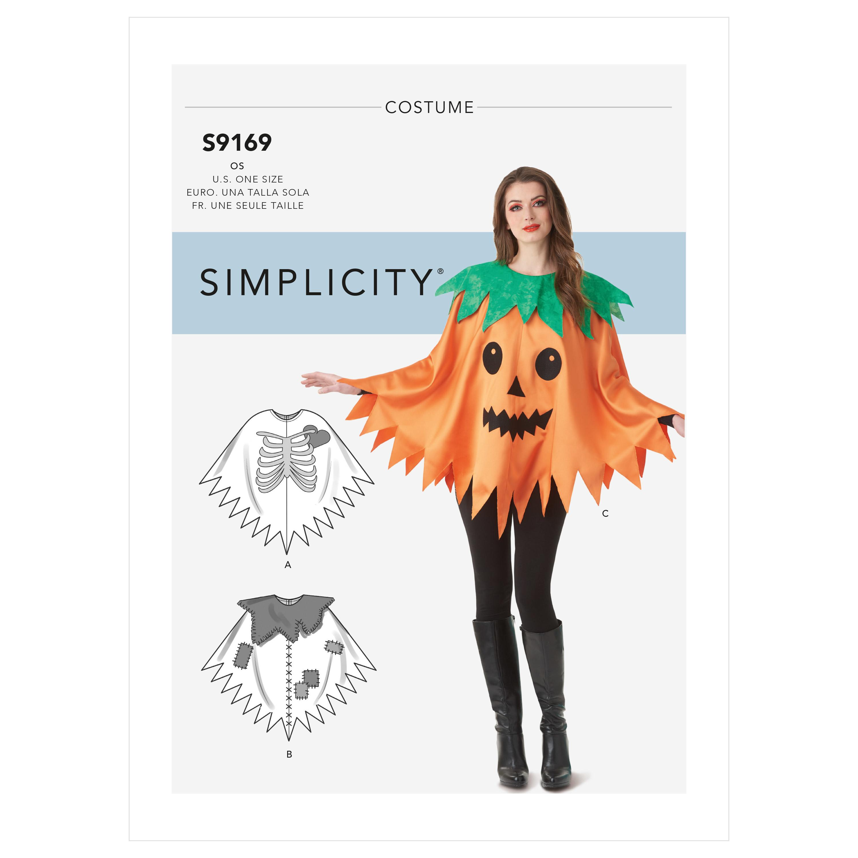 Simplicity S9169 Misses' Character Poncho Costumes