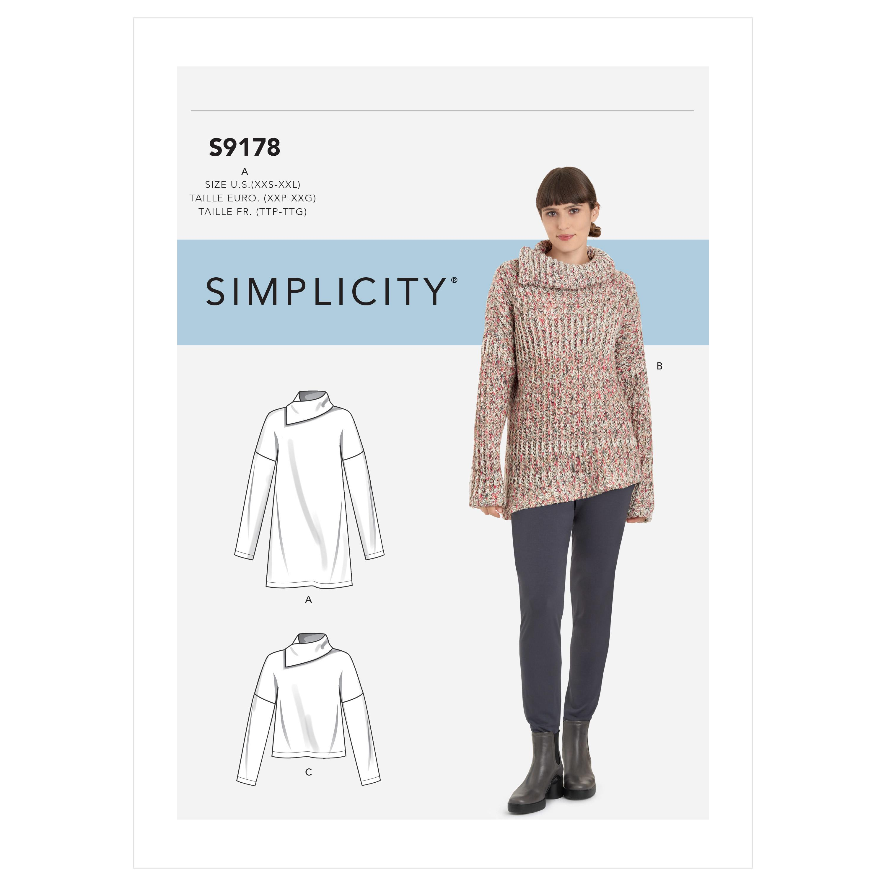 Simplicity S9178 Misses' Tops