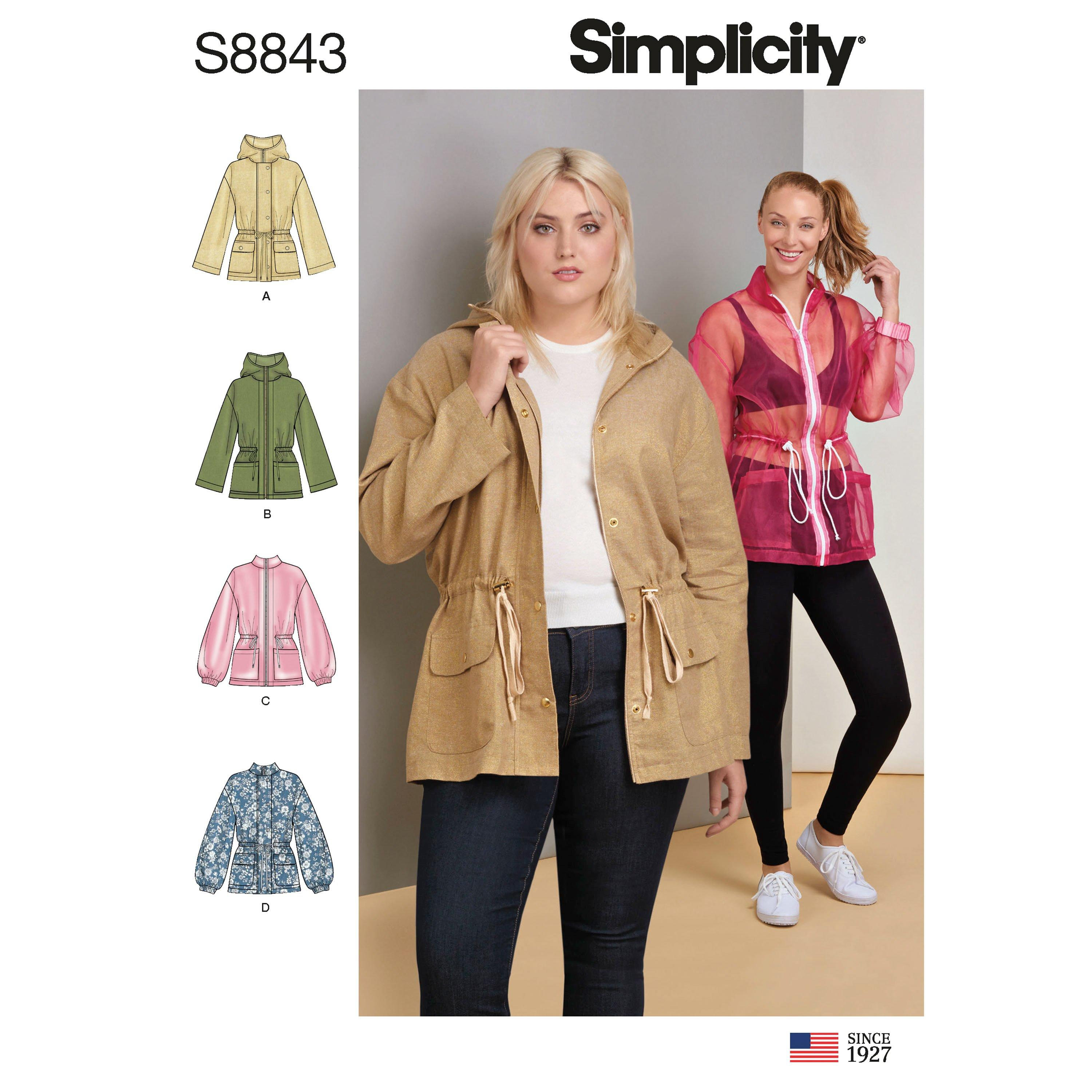 Simplicity S8843 Misses' Anorak Jacket