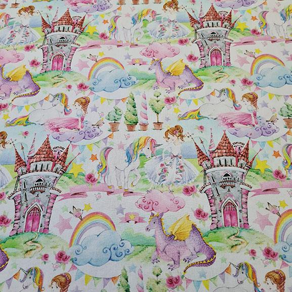 Unicorn & Princess's Digital Cotton