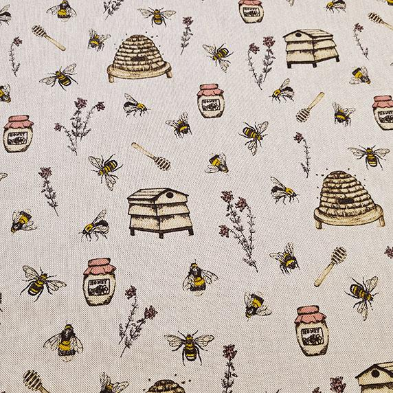 Bee Hive Linen Look Canvas
