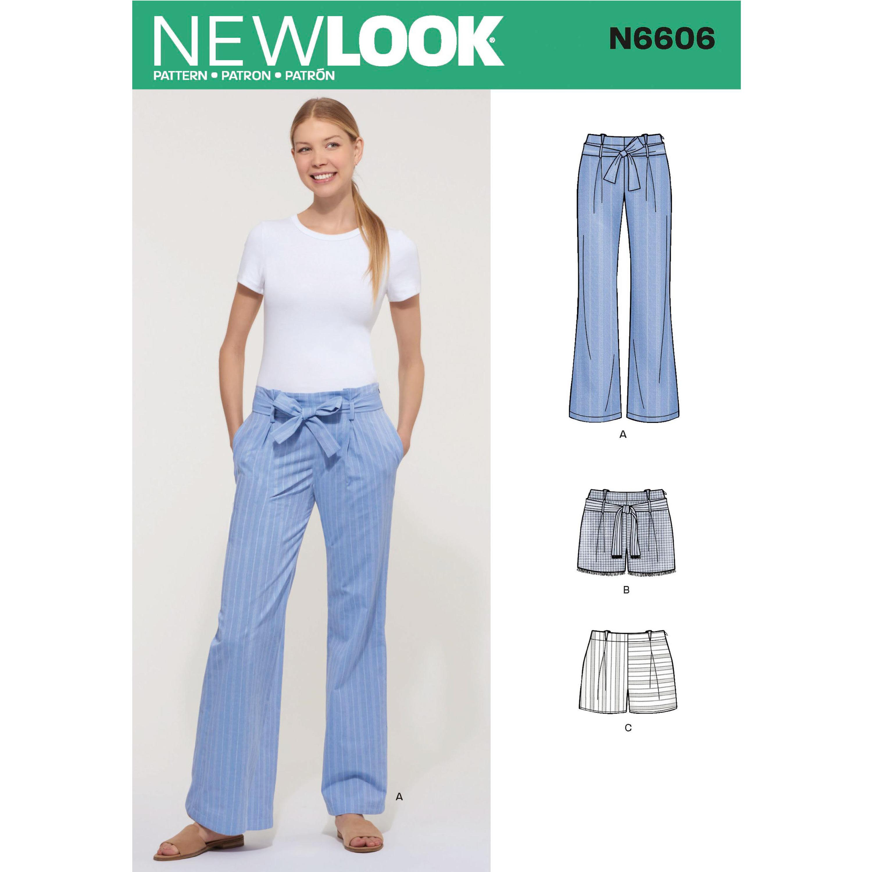 NewLook Sewing Pattern N6606 Misses' Pant and Shorts