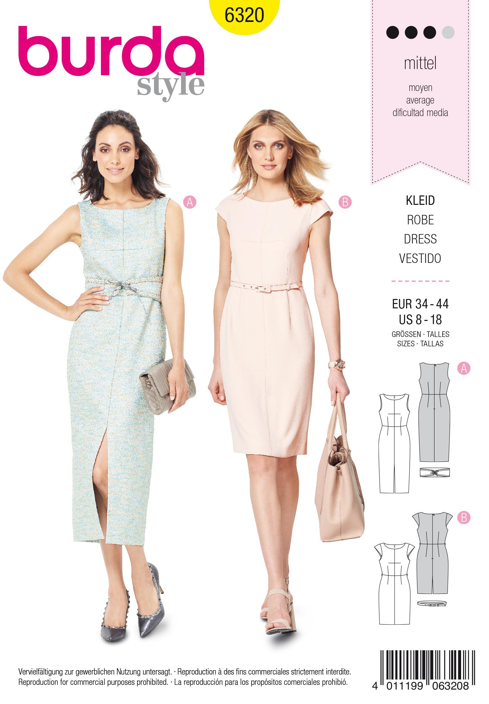Burda 6320 Misses' sheath dress