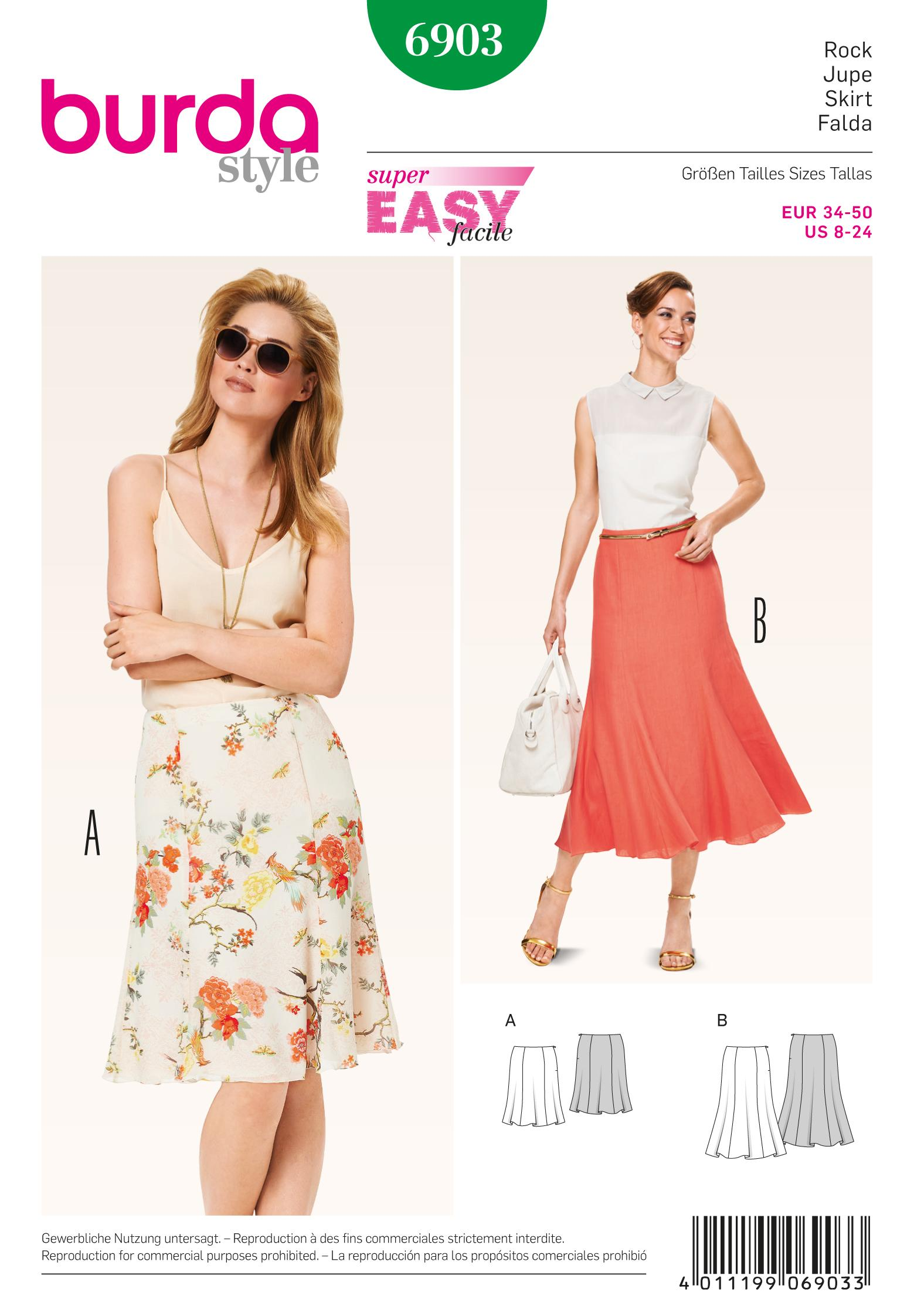 Burda B6903 Burda Skirts Sewing Pattern