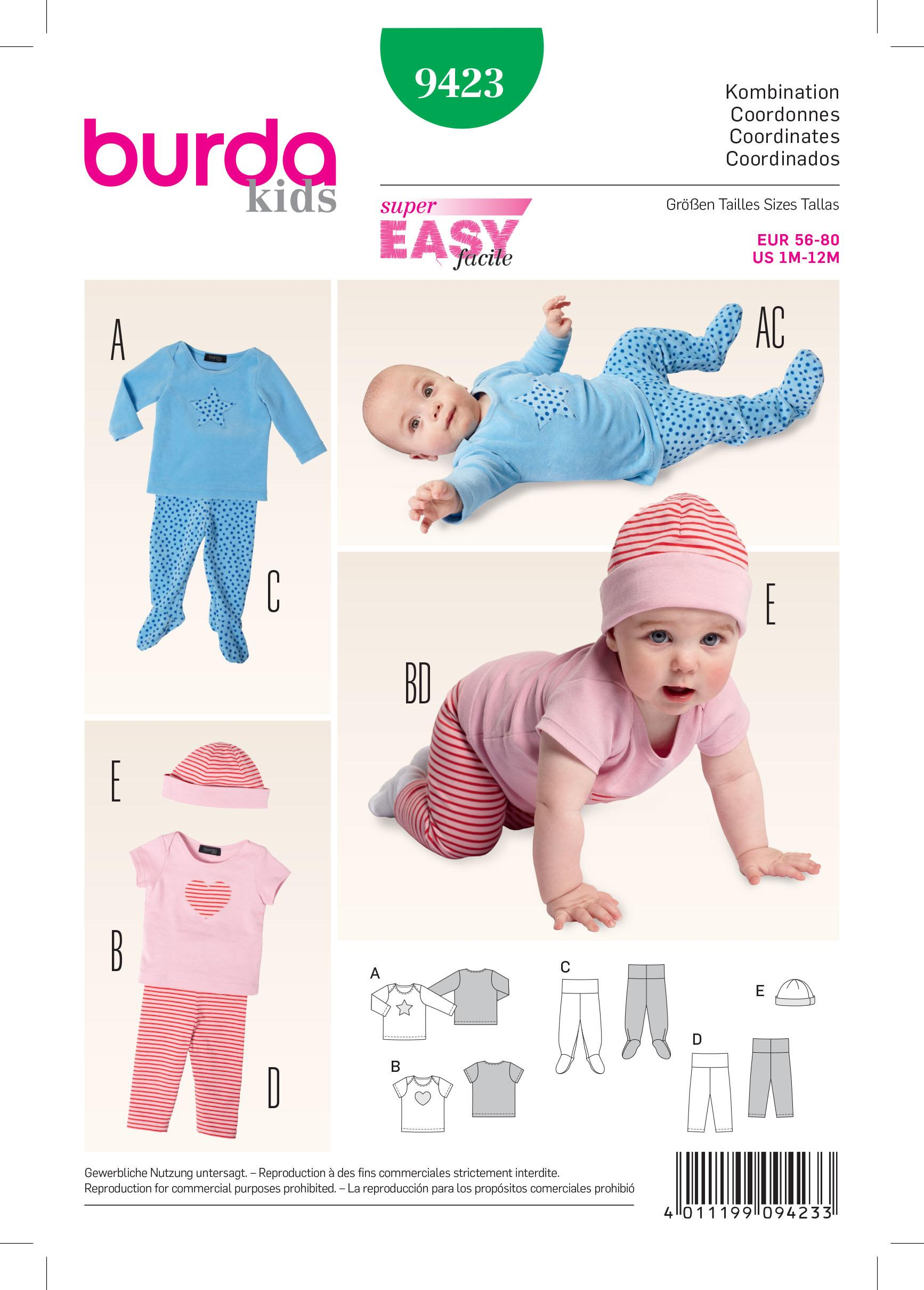 Burda B9423 Burda baby Sewing Pattern