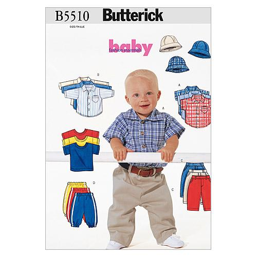 Butterick B5510 Infants' Shirt, T-Shirt, Pants and Hat