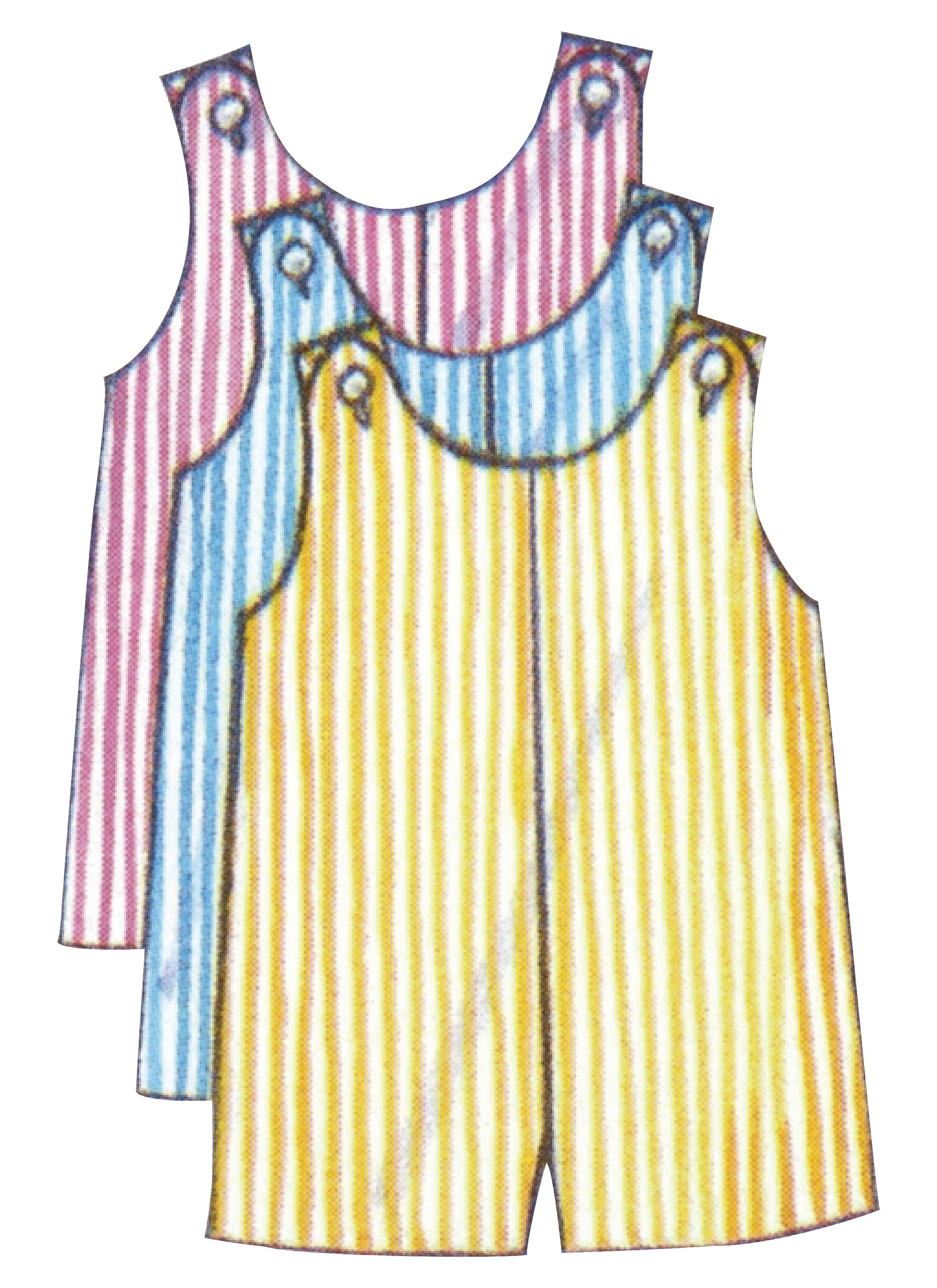 Butterick B5625 Infants' Romper, Pinafore, Panties and Hat