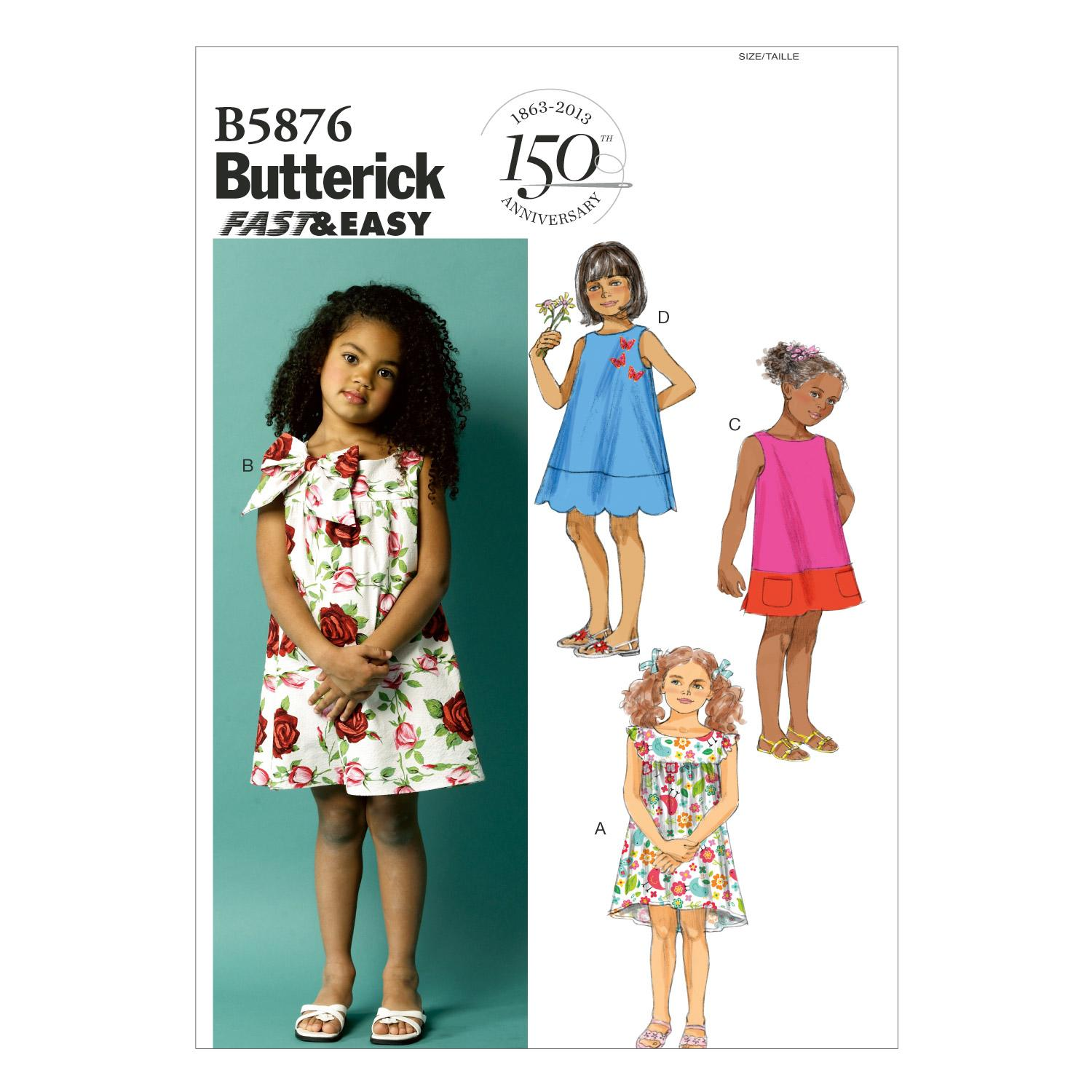 Butterick B5876 Toddlers'/Children's Dress