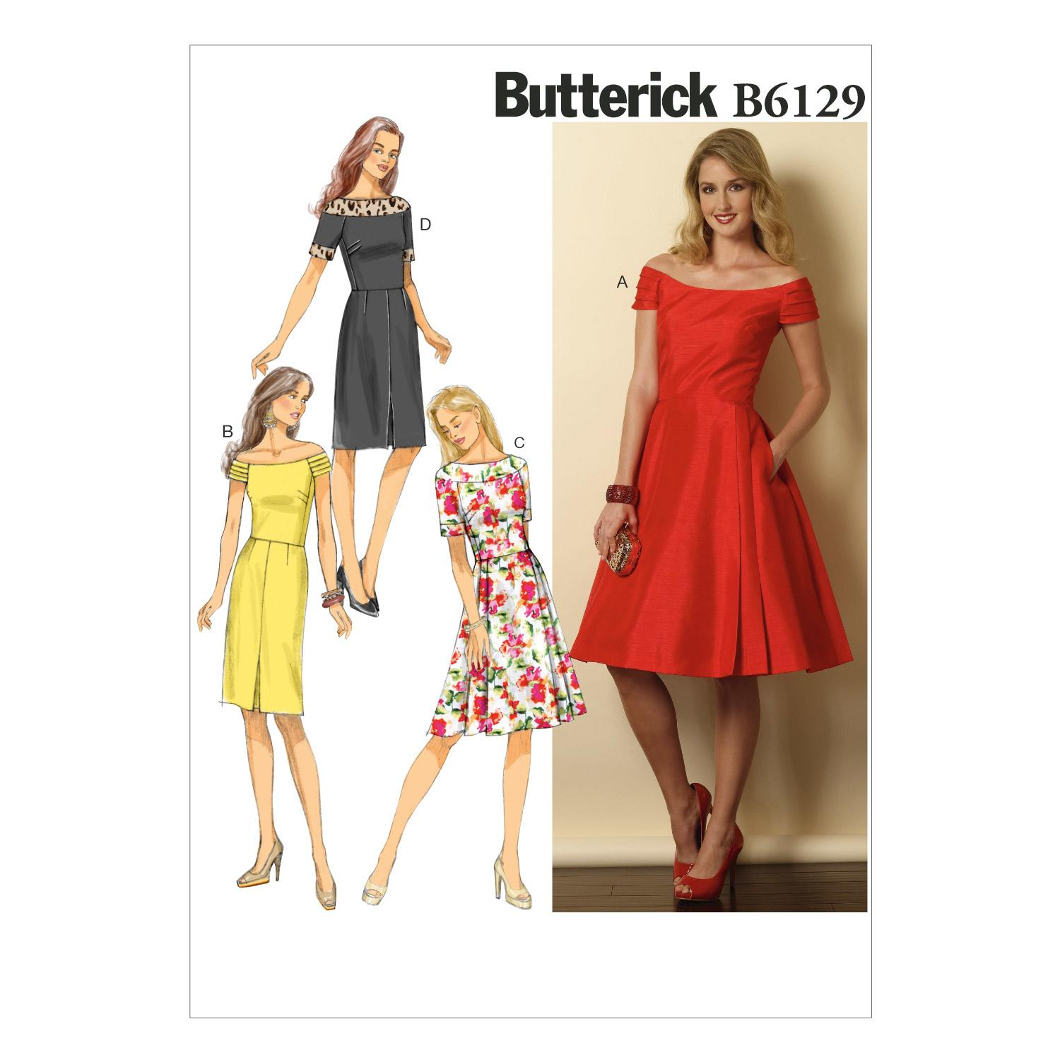 Butterick B6129 Misses'/Misses' Petite Dress