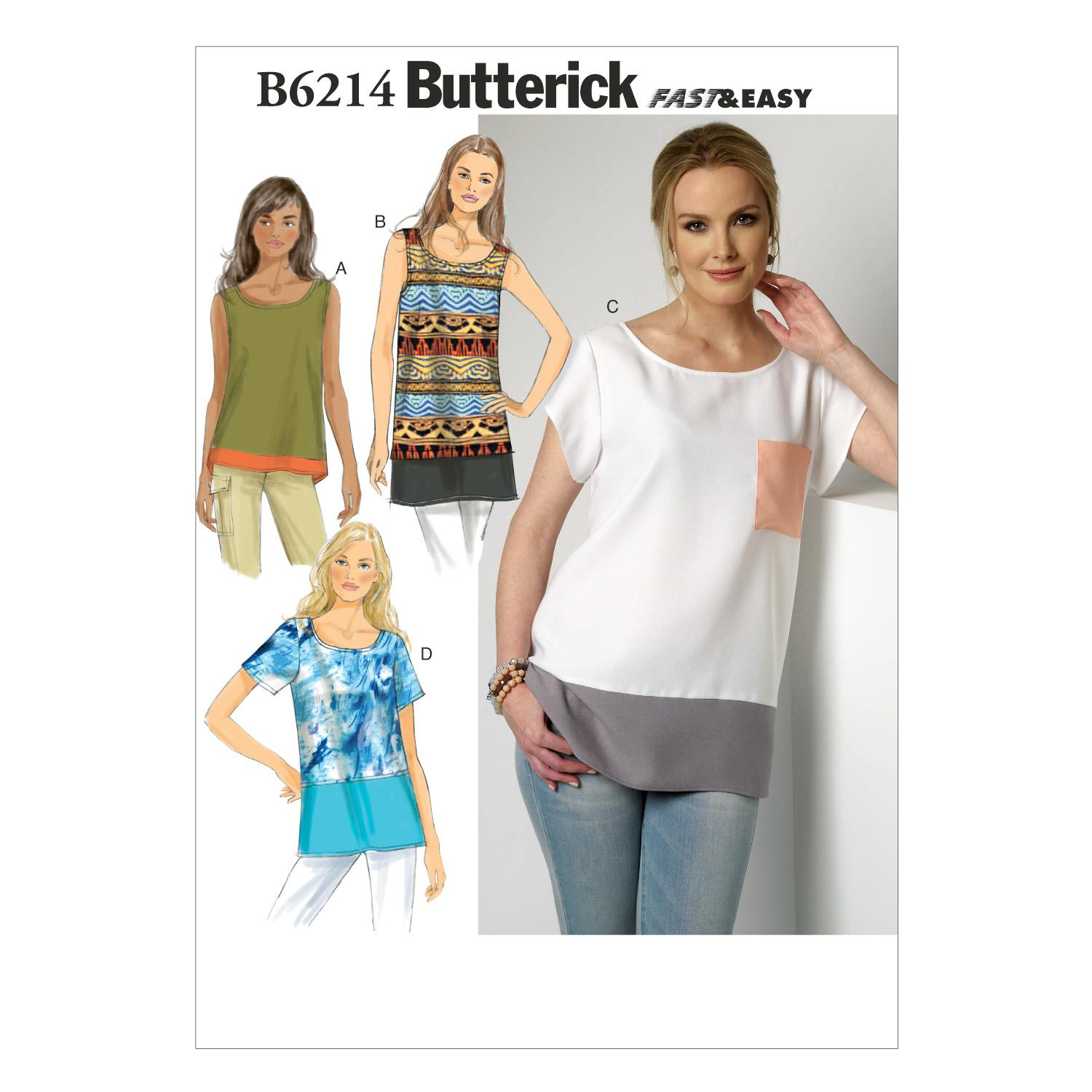 Butterick B6214 Misses' Top
