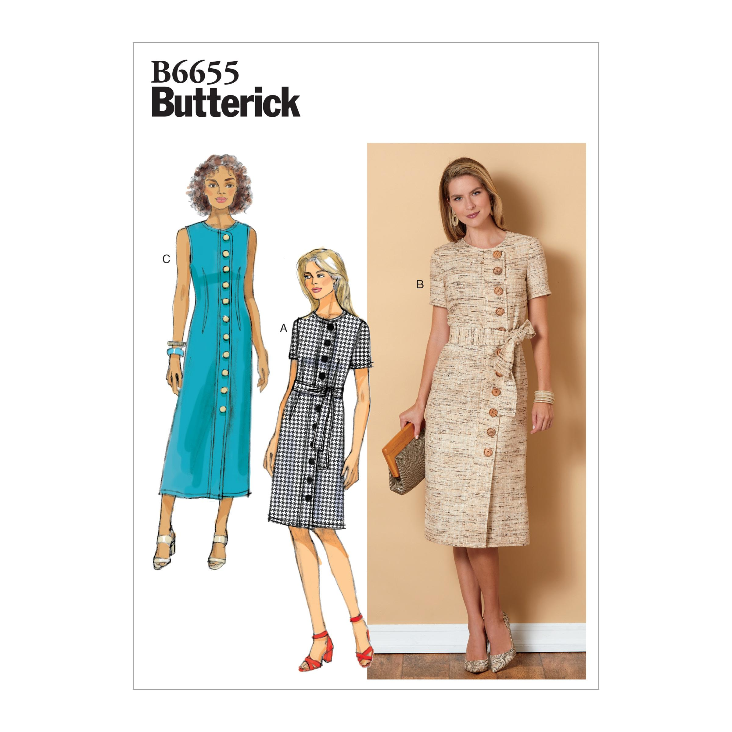 Butterick B6655 Misses'/Misses' Petite Dress and Sash