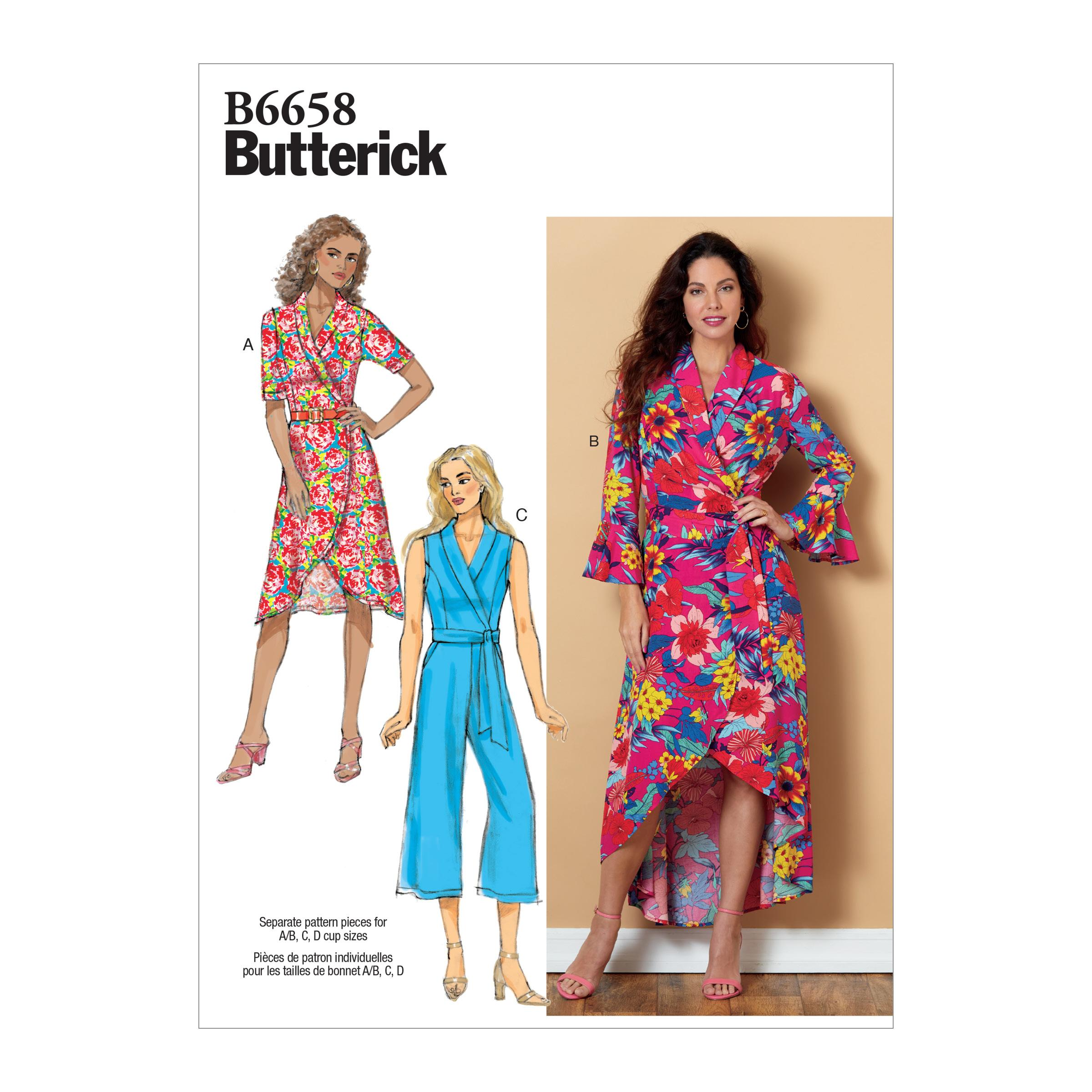 Butterick B6658 Misses' Dress, Jumpsuit and Sash