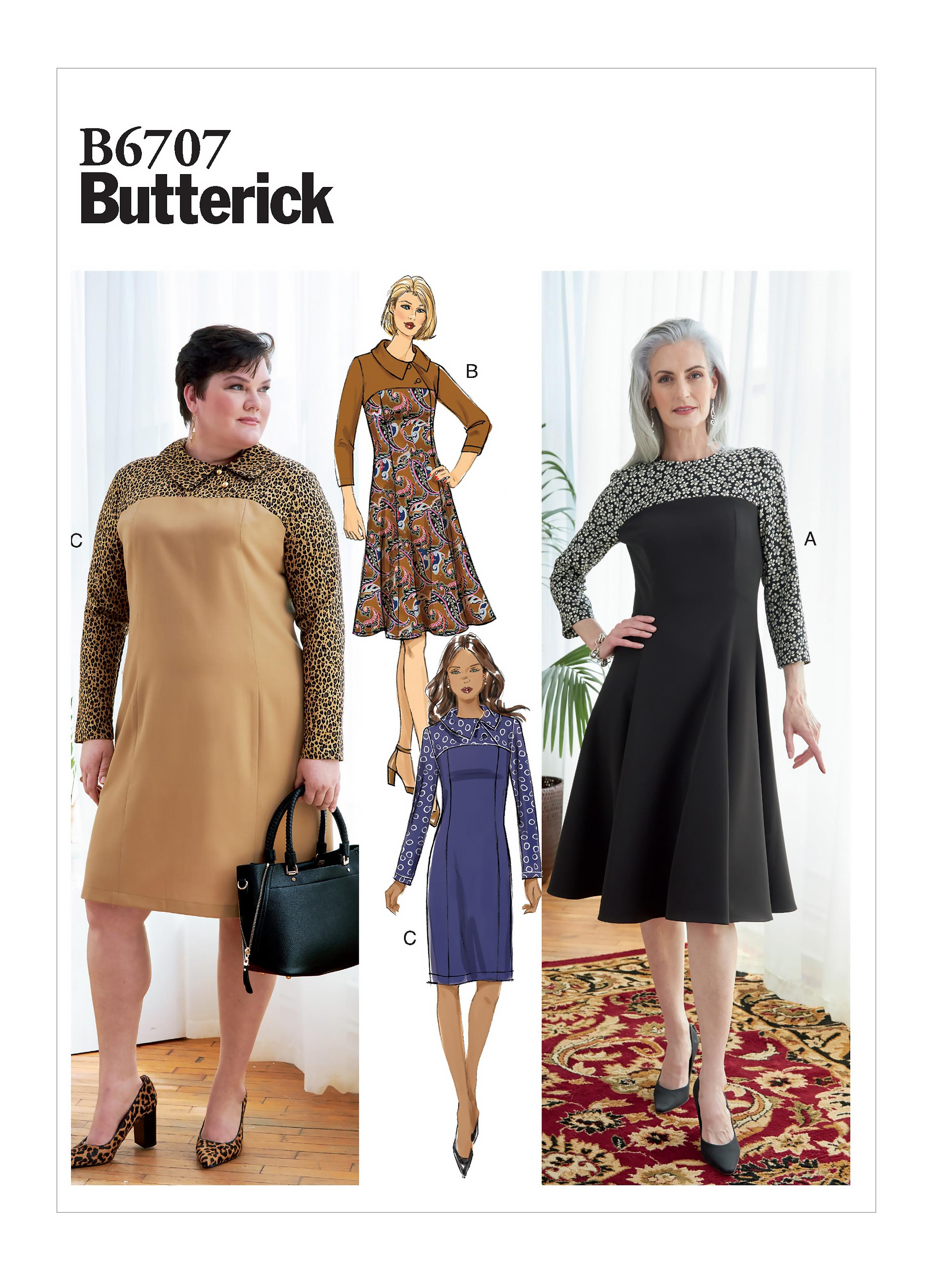 Butterick B6707 Misses'/Women's Dress
