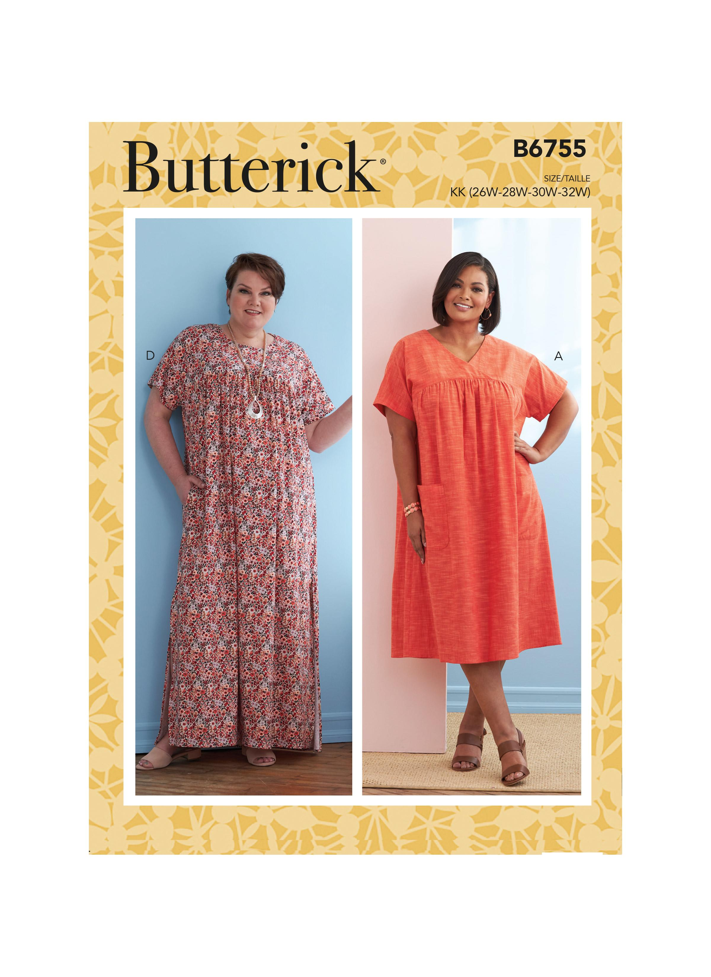 Butterick B6755 Misses' Asymmetrical-Detail Tunics